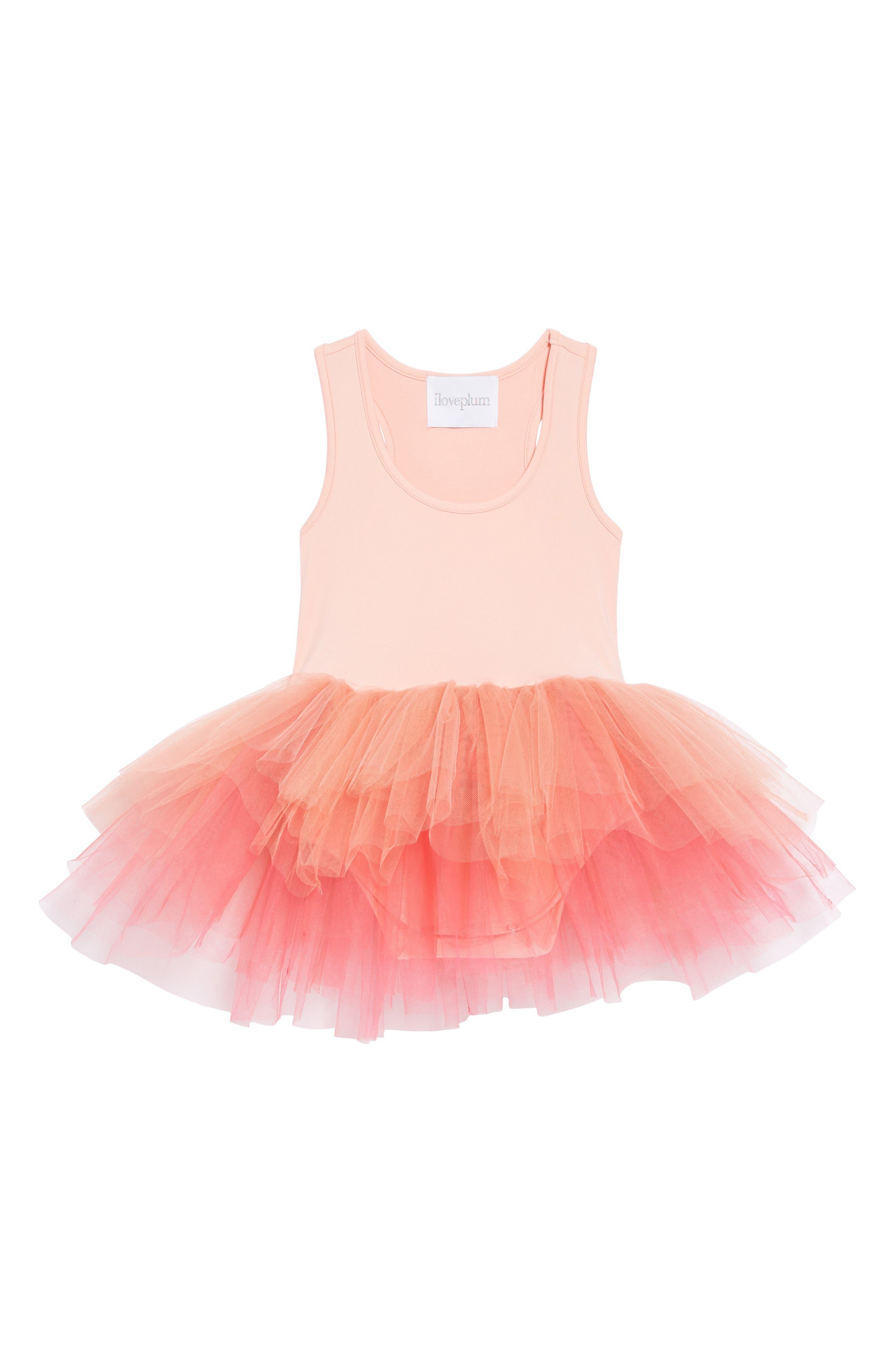 Tutu Dress,                             Main thumbnail 1, color,                             Ombre Coral