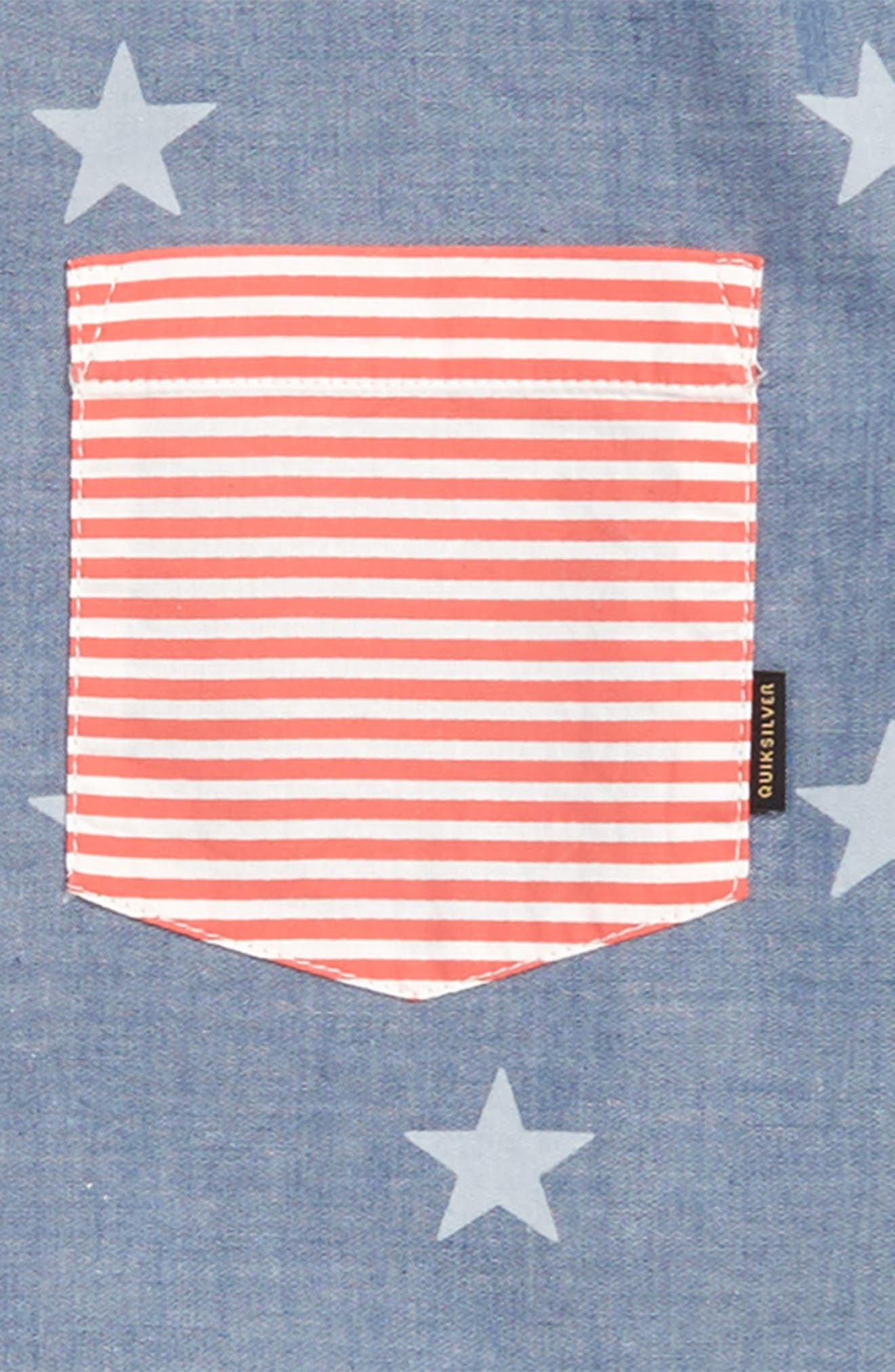 4th of July Woven Shirt,                             Alternate thumbnail 2, color,                             Used Blue
