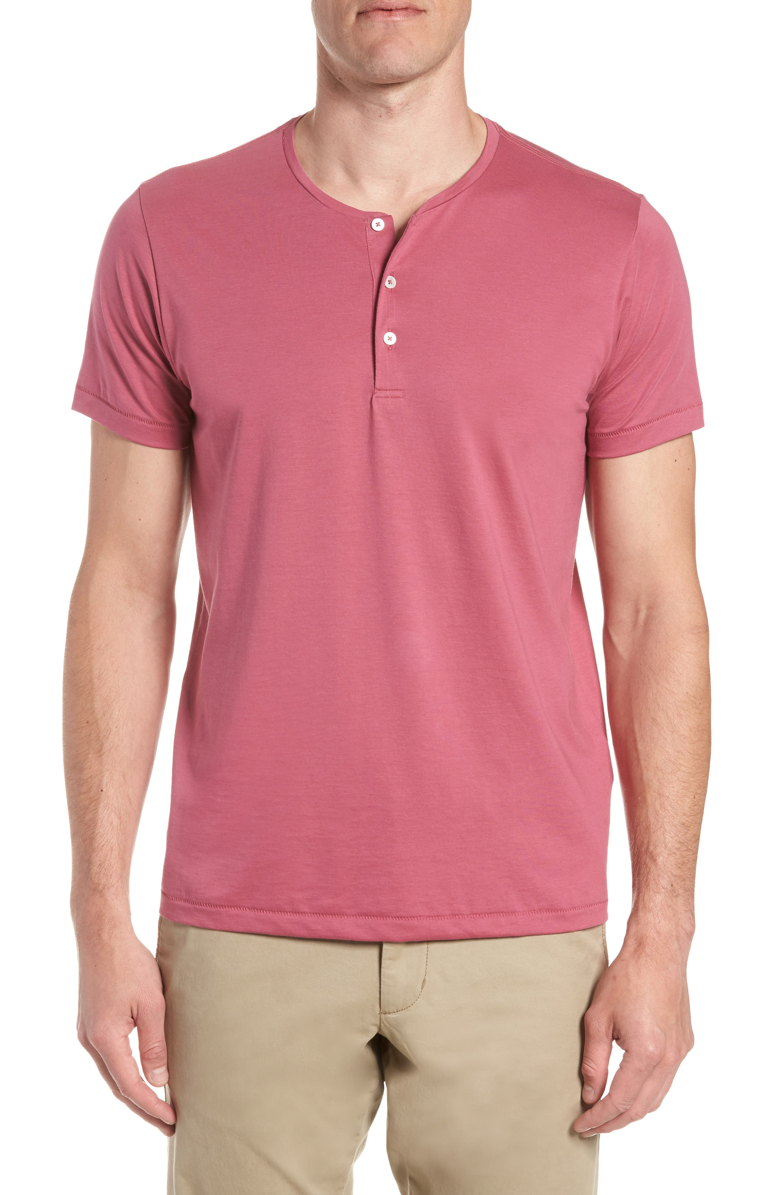 Superfine Henley T-Shirt,                             Main thumbnail 1, color,                             Malaga