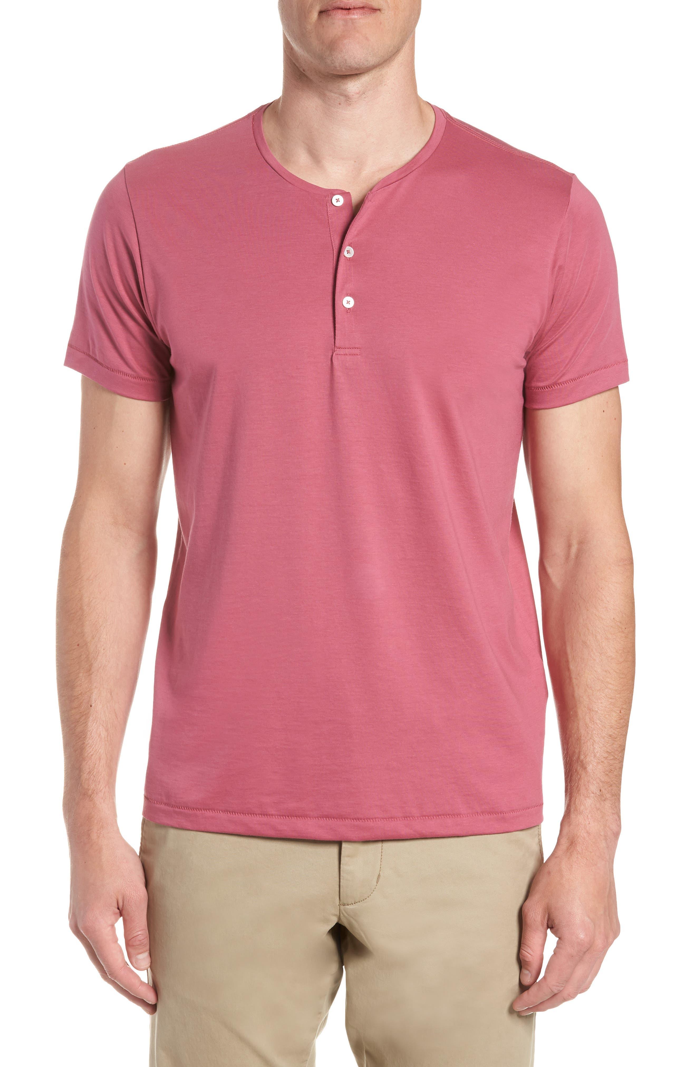 Superfine Henley T-Shirt,                         Main,                         color, Malaga