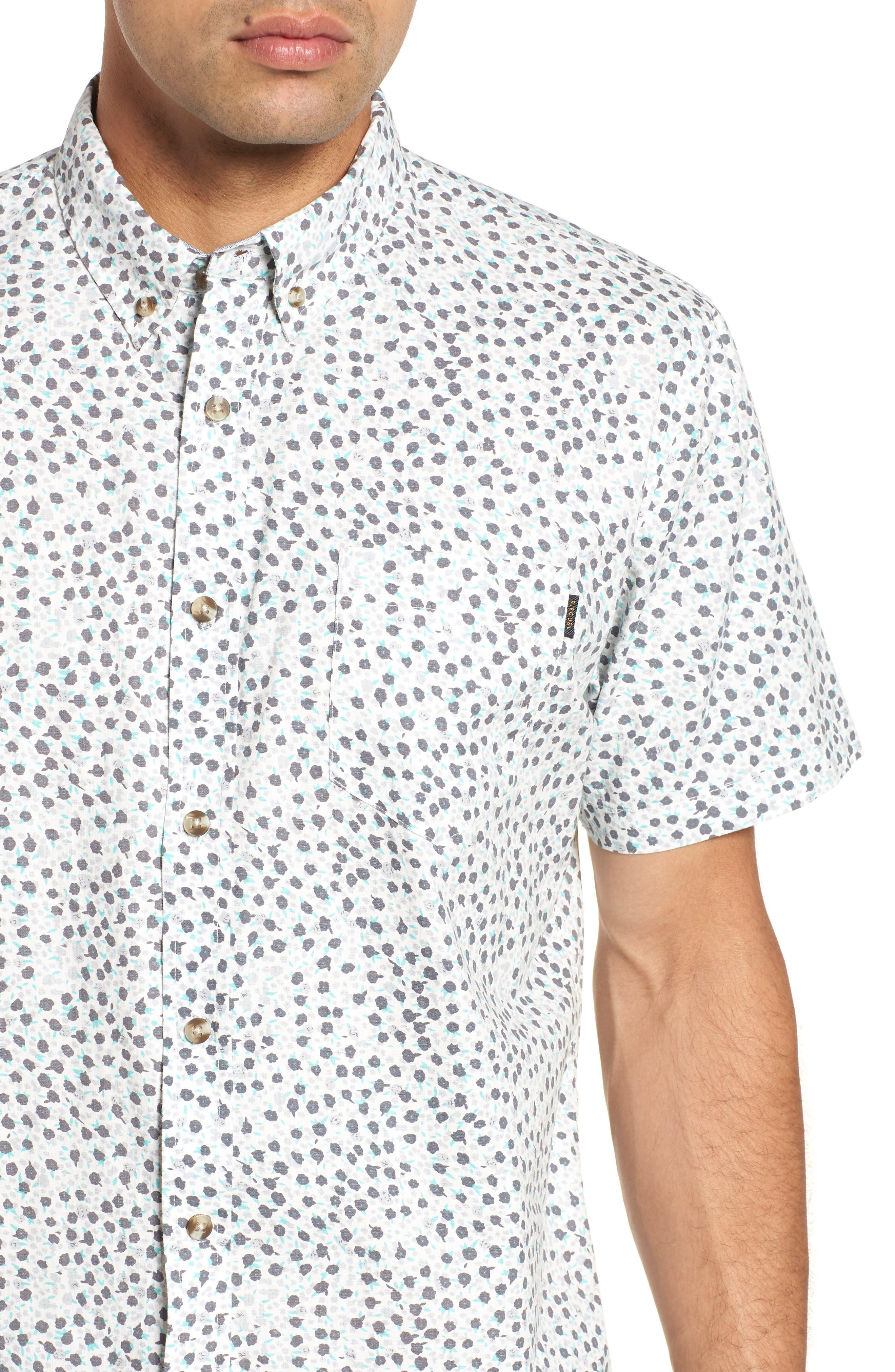 El Mirador Woven Shirt,                             Alternate thumbnail 4, color,                             Off White
