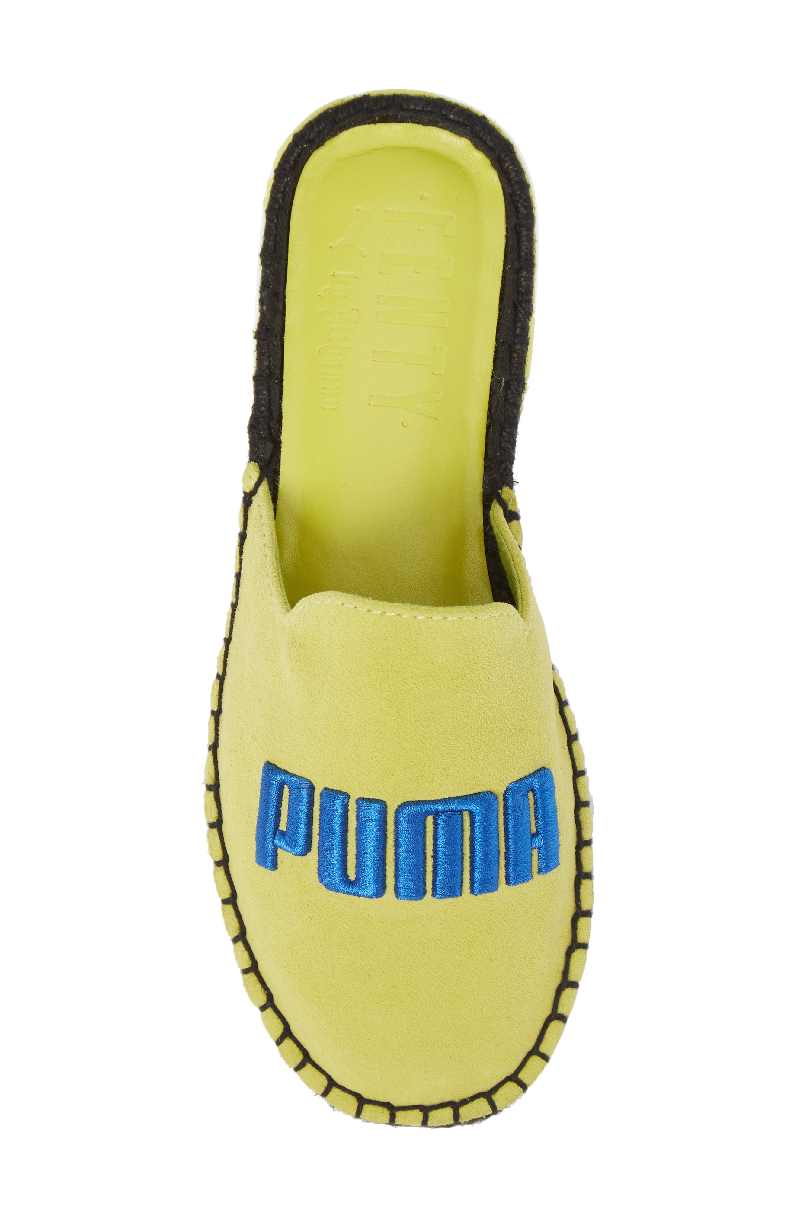 FENTY PUMA by Rihanna Espadrille Flat,                             Alternate thumbnail 5, color,                             Sulphur Spring/ Dazzling Blue
