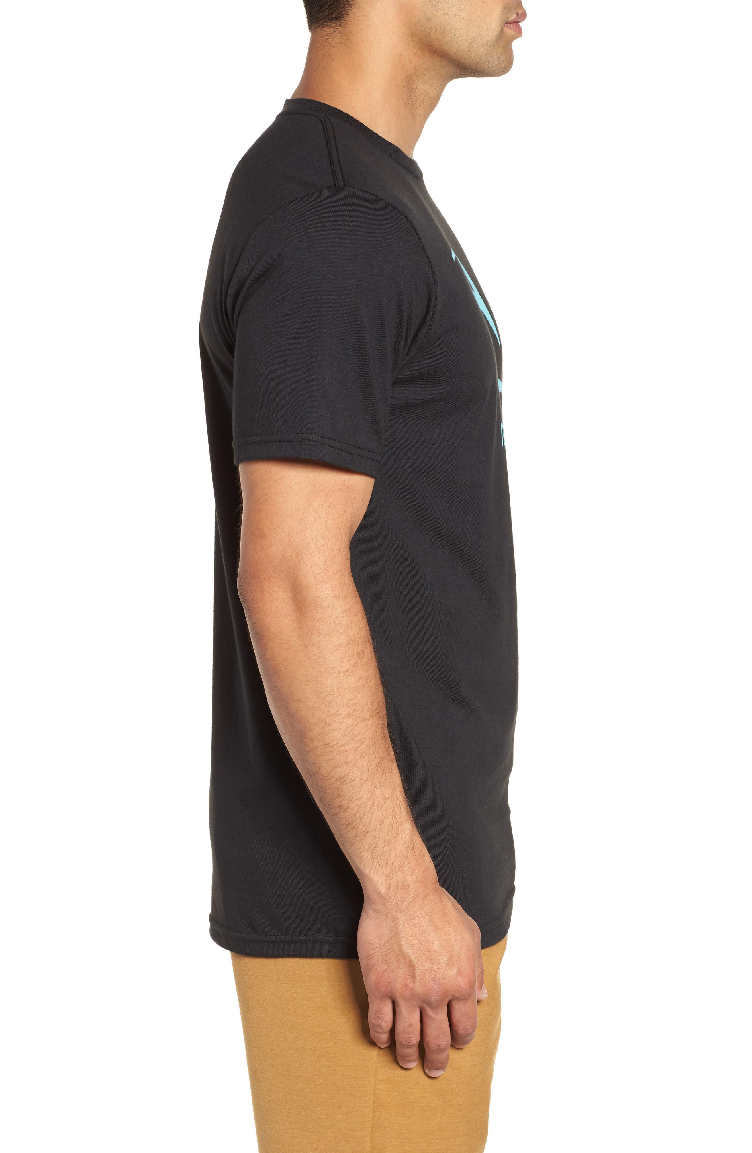 Threaded Classic T-Shirt,                             Alternate thumbnail 3, color,                             Black