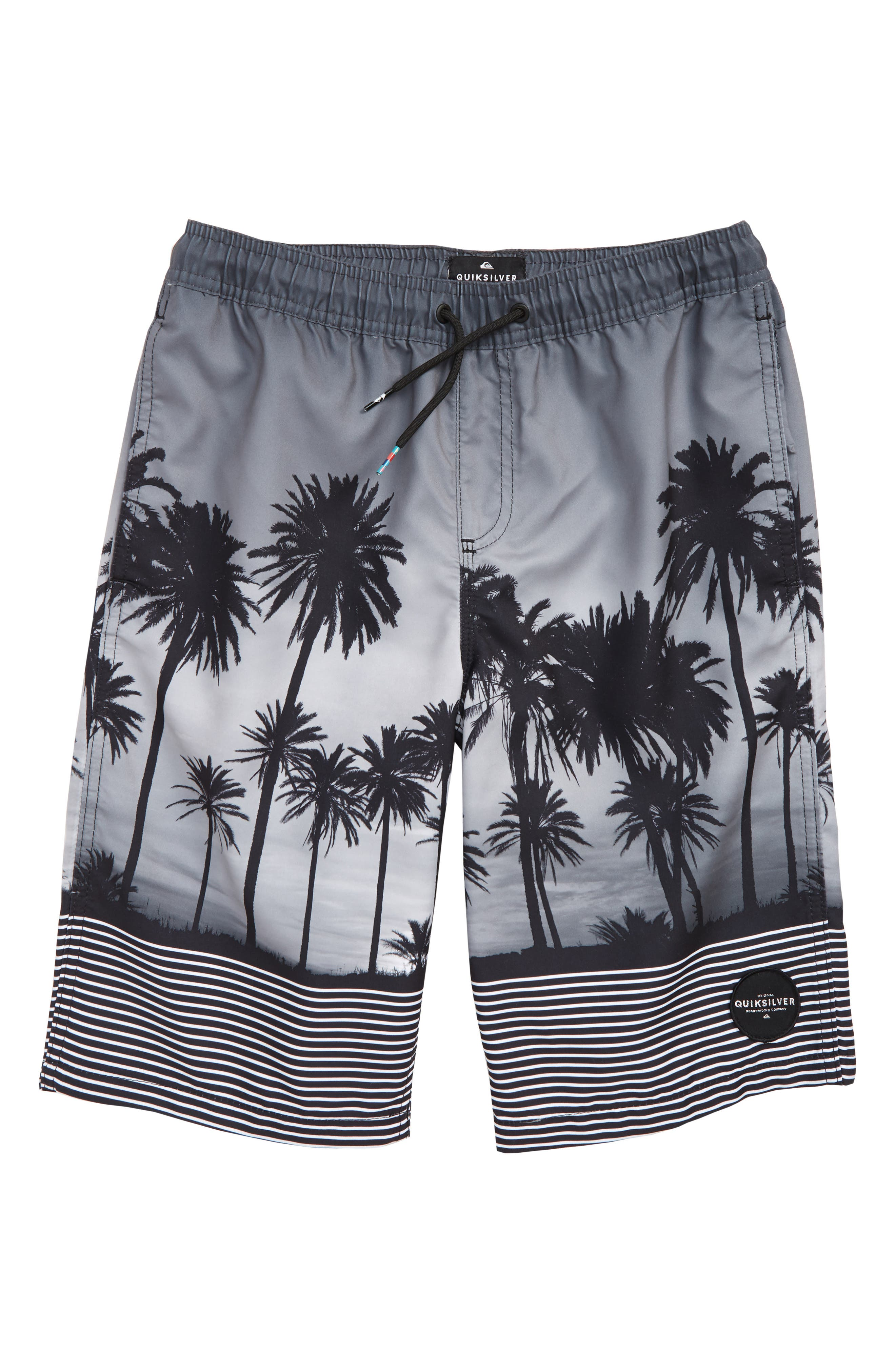 Sunset Vibes Volley Shorts,                         Main,                         color, Black