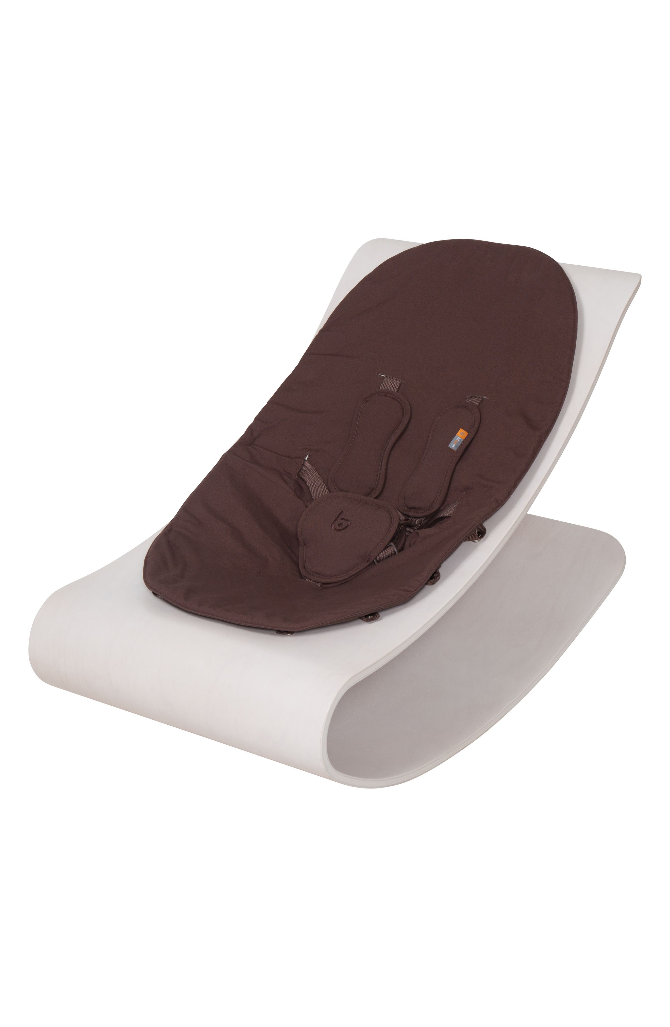 Coco Stylewood Beach House Infant Lounger,                             Main thumbnail 1, color,                             White/ Brown