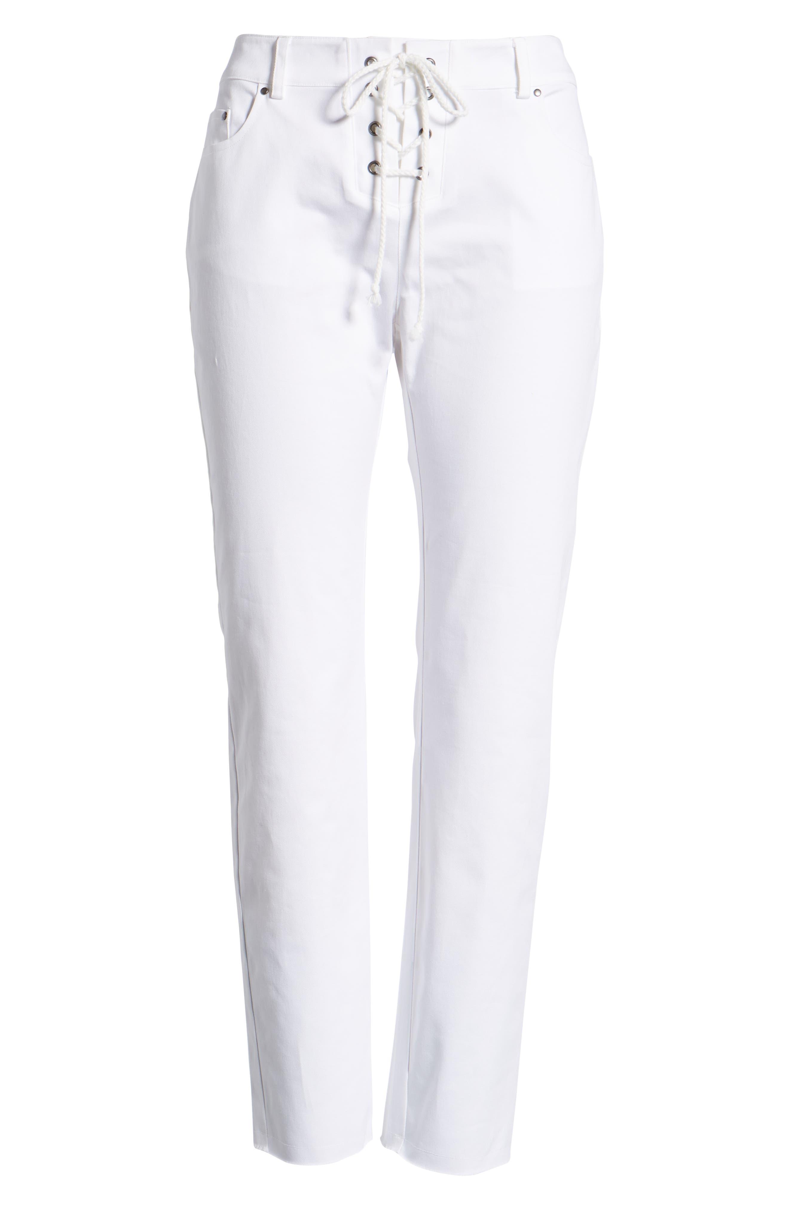 Jalanda Pants,                             Alternate thumbnail 7, color,                             White
