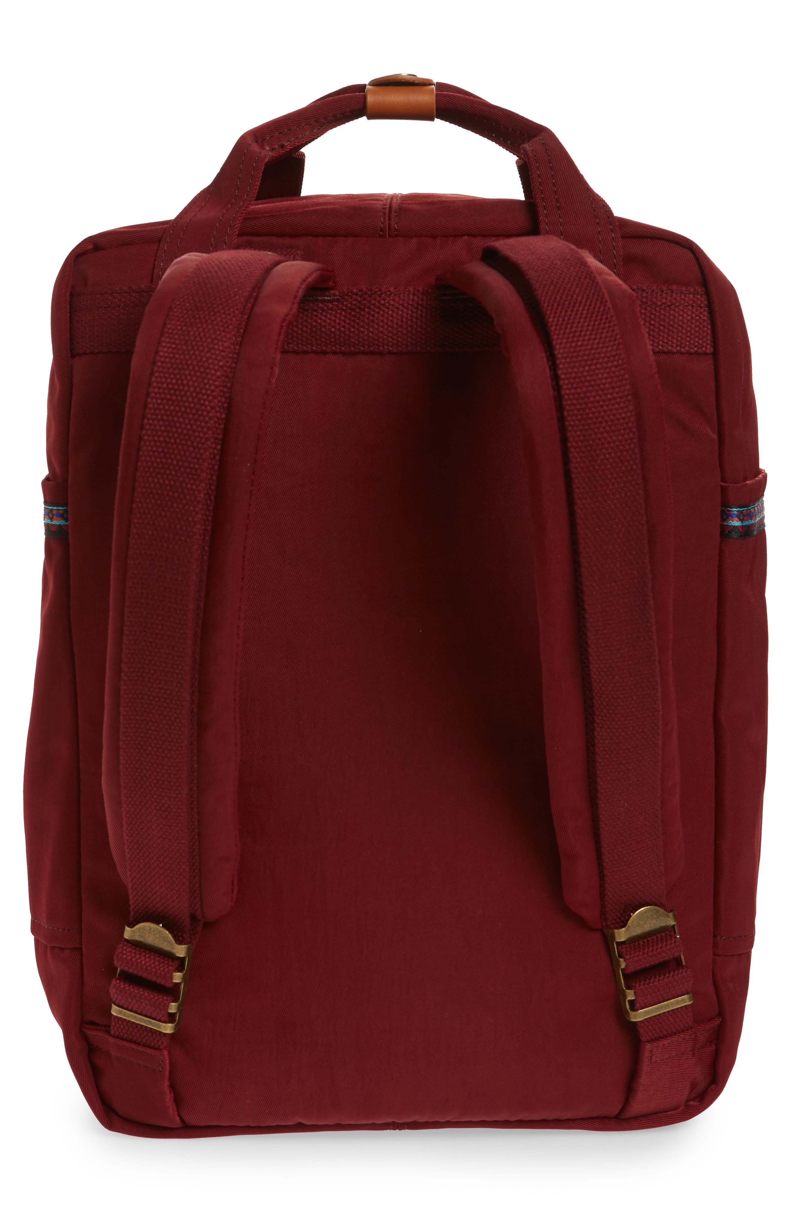 Macaroon Bo-He Water Resistant Backpack,                             Alternate thumbnail 3, color,                             Wine