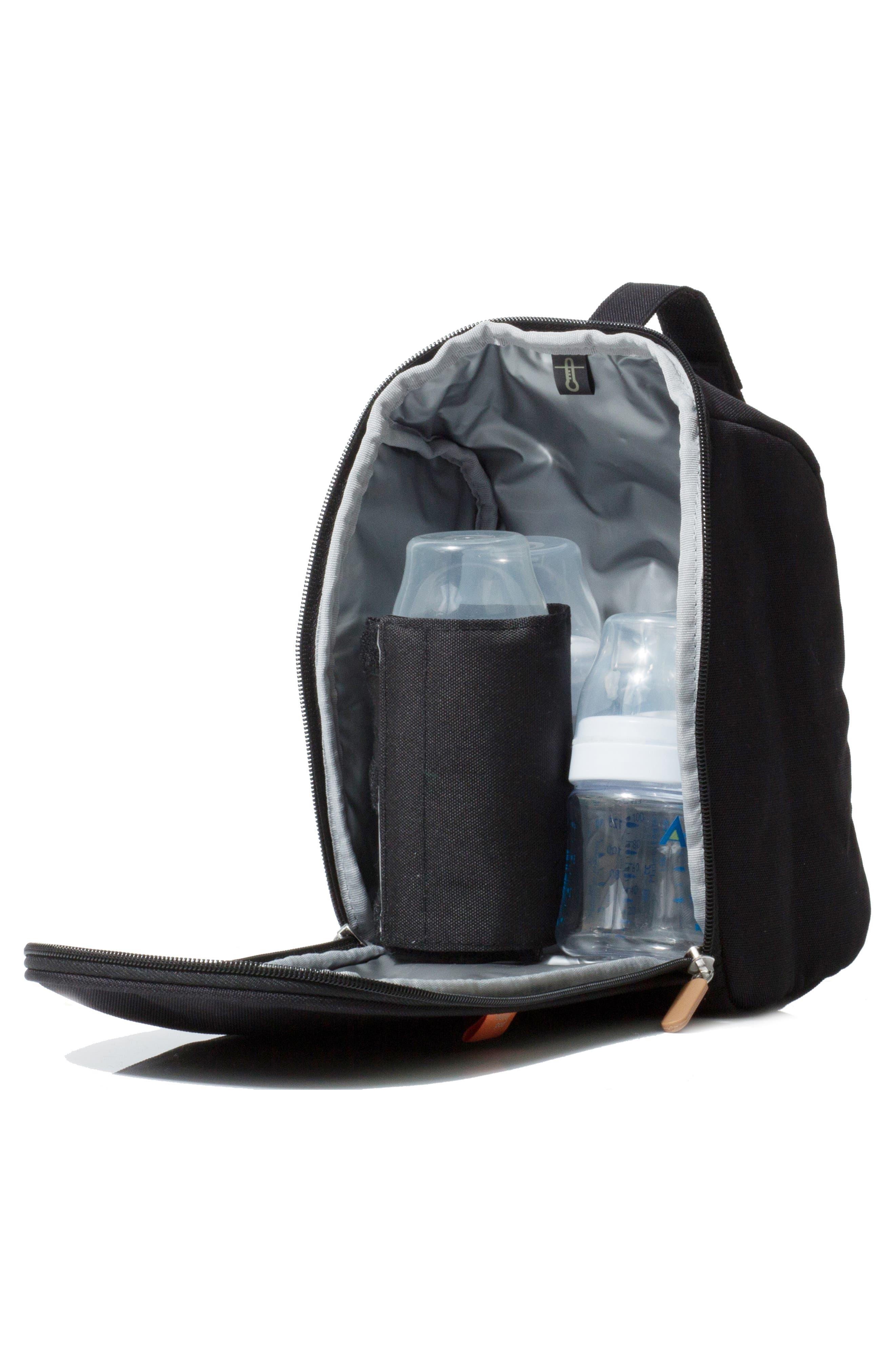 Picos Pack Diaper Backpack,                             Alternate thumbnail 6, color,                             Black Charcoal