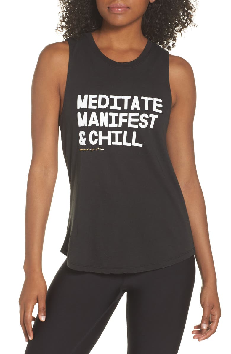 Meditate Manifest  Chill Muscle Tee
