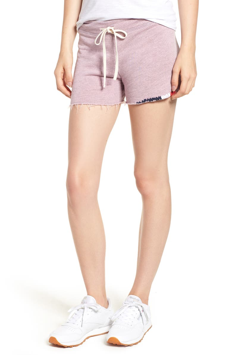 Embroidered Cutoff Terry Shorts
