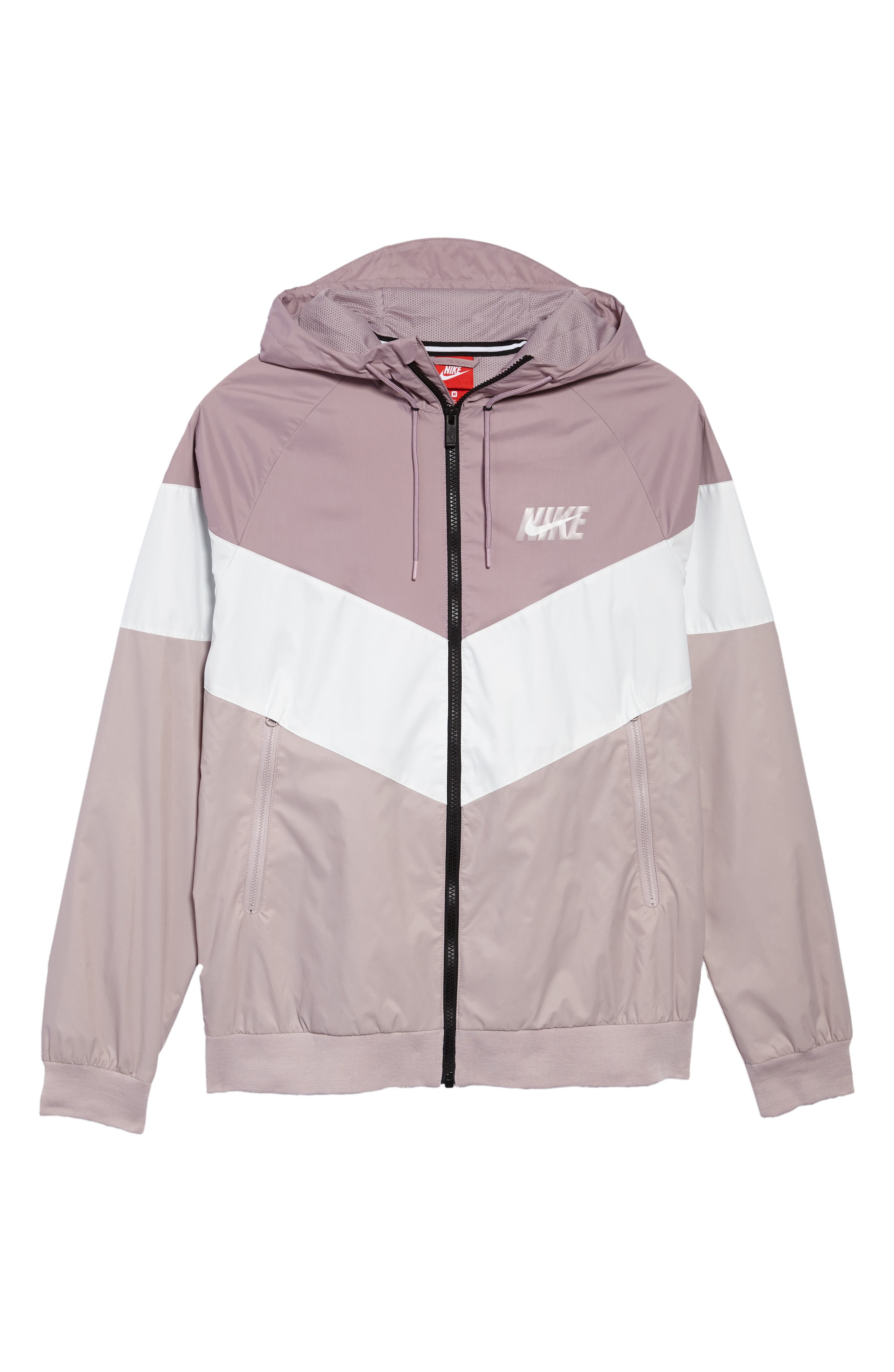Windrunner Wind & Water Repellent Hooded Jacket,                             Alternate thumbnail 6, color,                             Elemental Rose/ Summit White