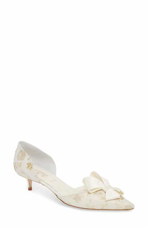 Something Bleu Cliff Bow D Orsay Pump Women