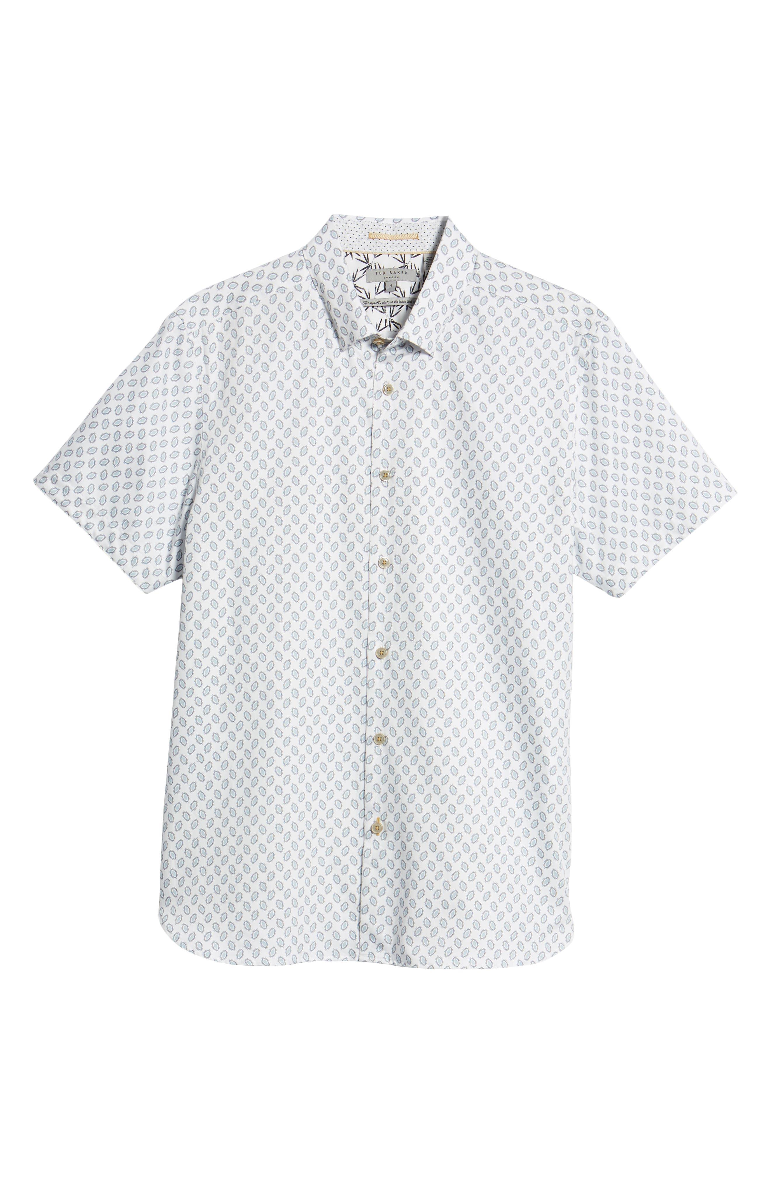Newfone Trim Fit Chambray Sport Shirt,                             Alternate thumbnail 6, color,                             White