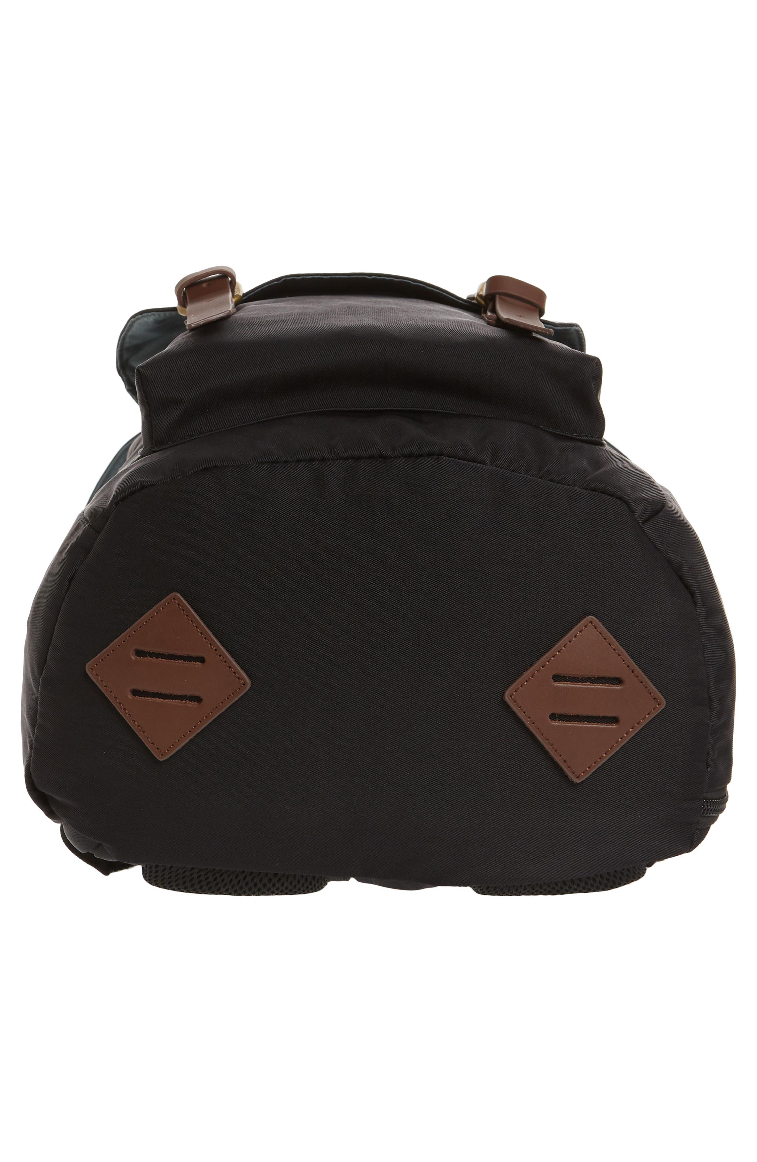 Heritage Water Repellent Backpack,                             Alternate thumbnail 6, color,                             Black