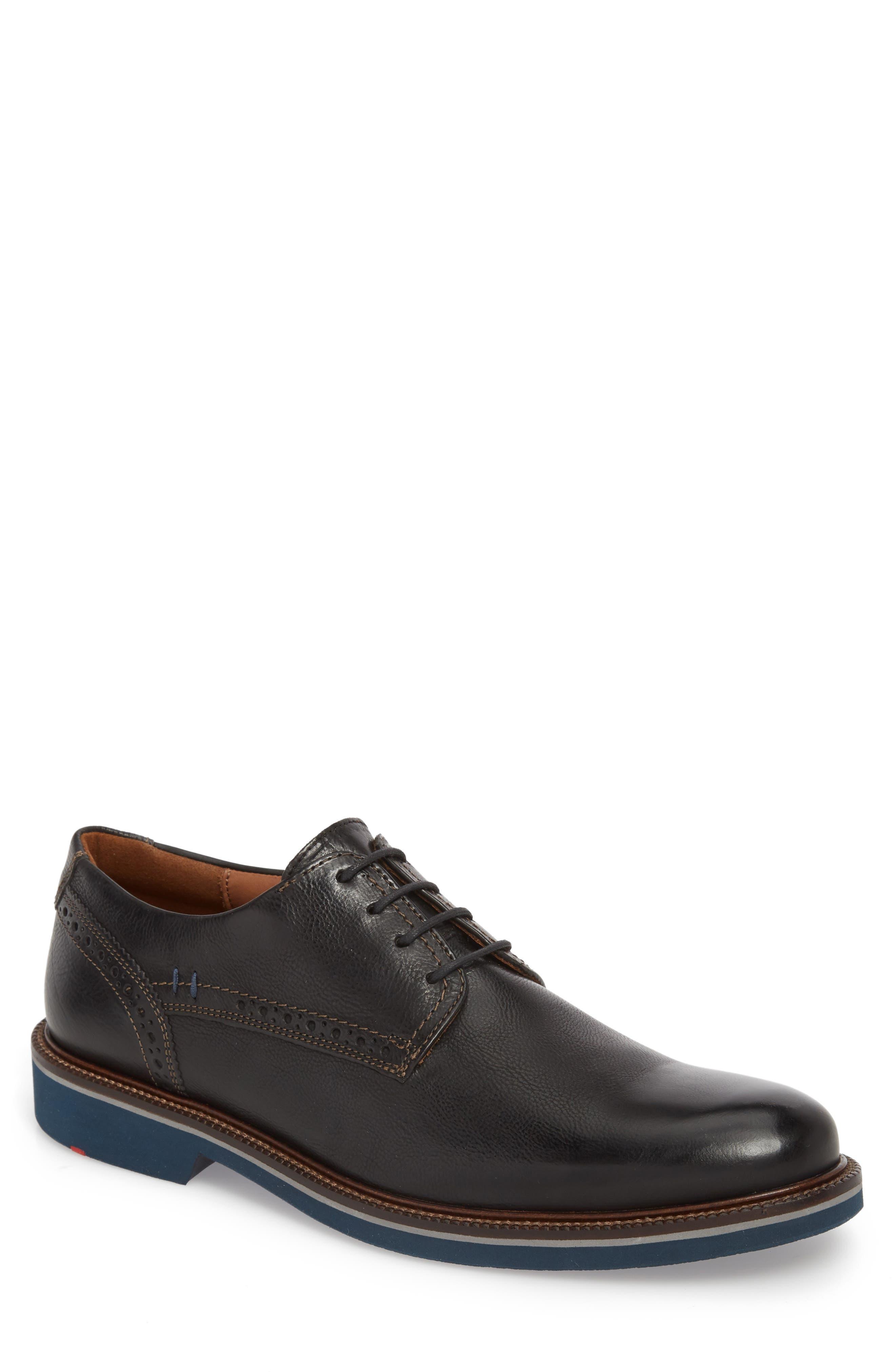 Hagen Plain Toe Derby,                         Main,                         color, Black Leather