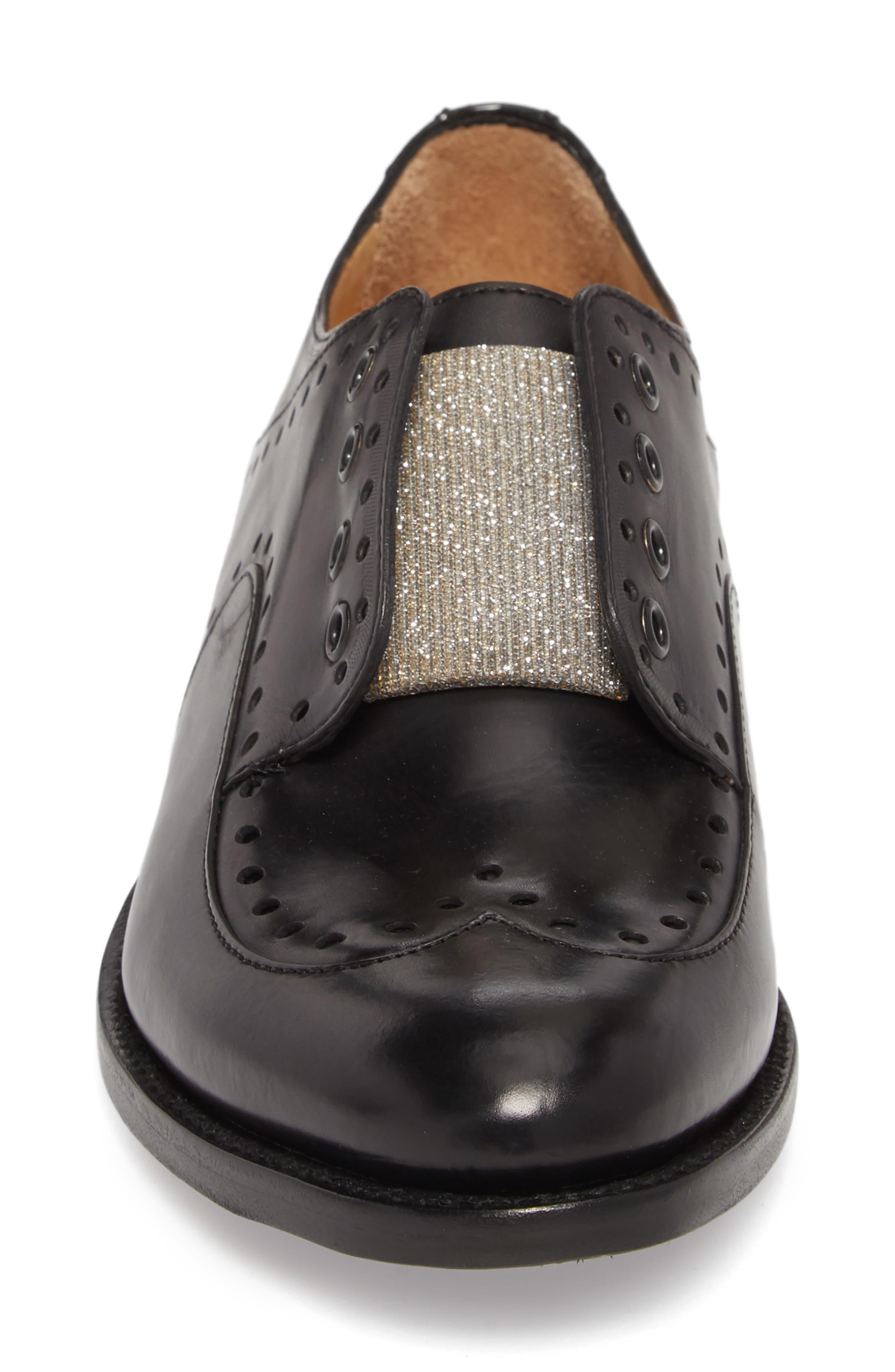 Mr. Gordon Laceless Wingtip Derby,                             Alternate thumbnail 4, color,                             Black Leather