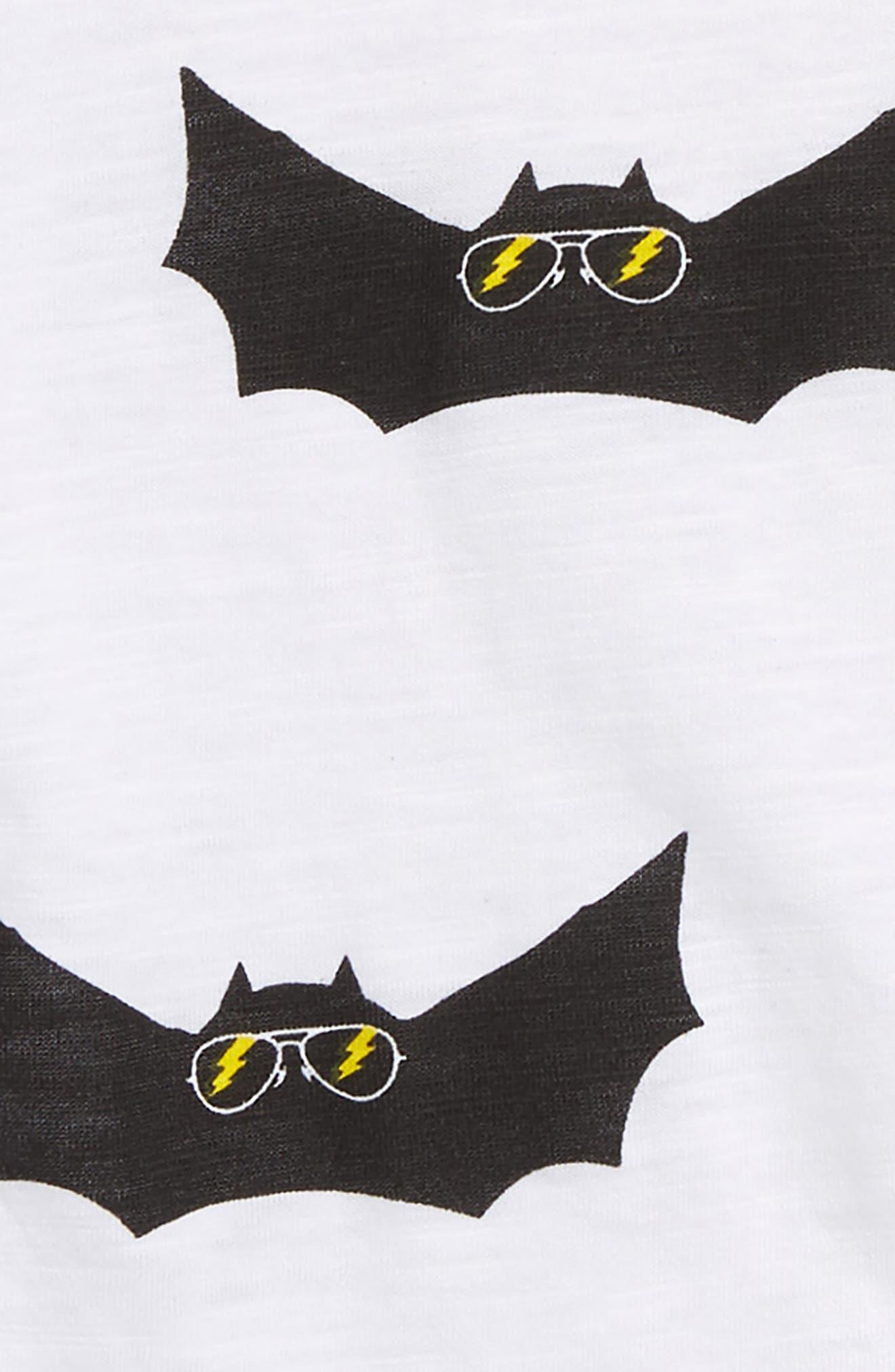 Electric Bat Print T-Shirt,                             Alternate thumbnail 2, color,                             White
