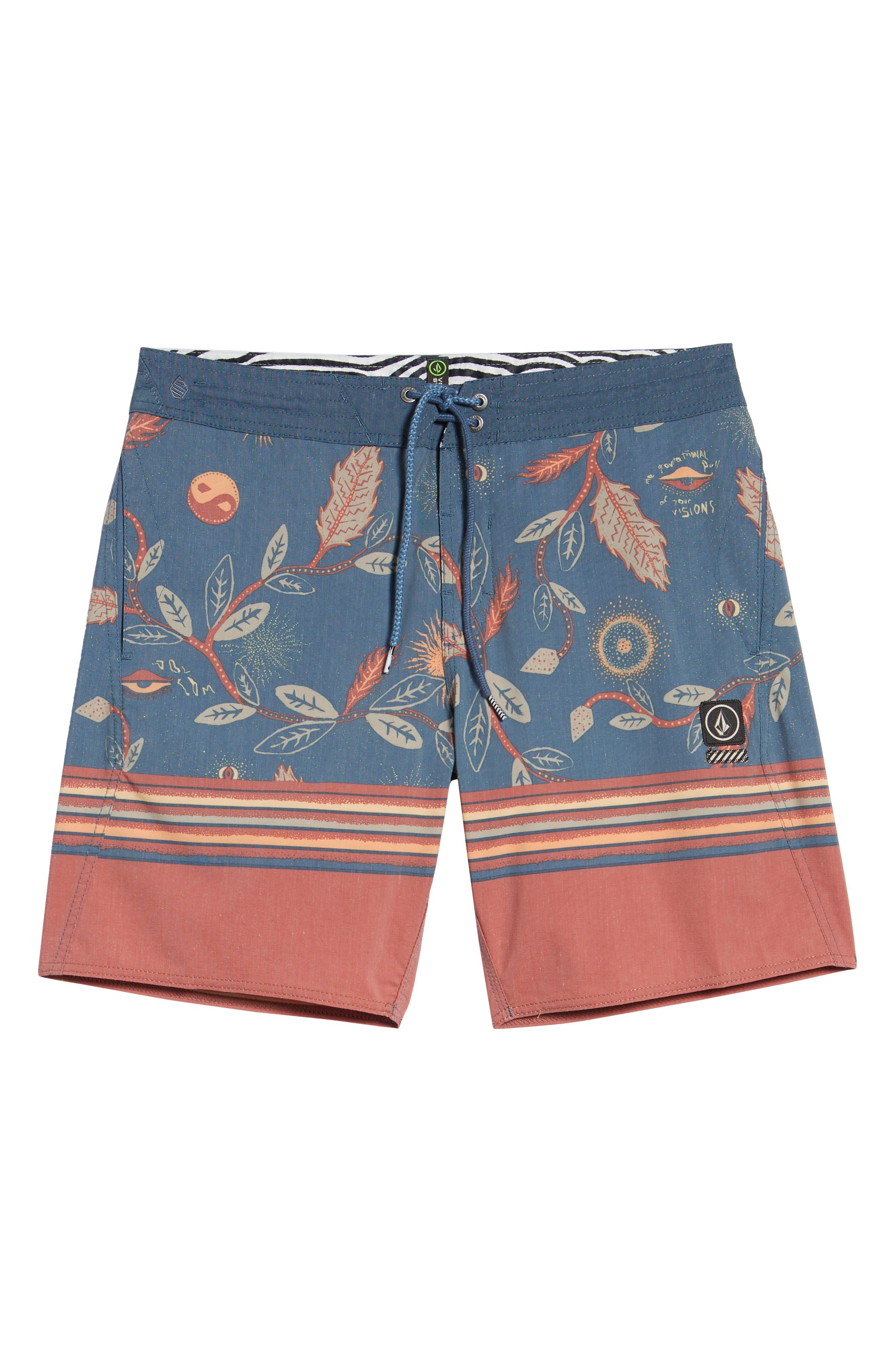 Lucid Stoney Board Shorts,                             Alternate thumbnail 6, color,                             Deep Blue