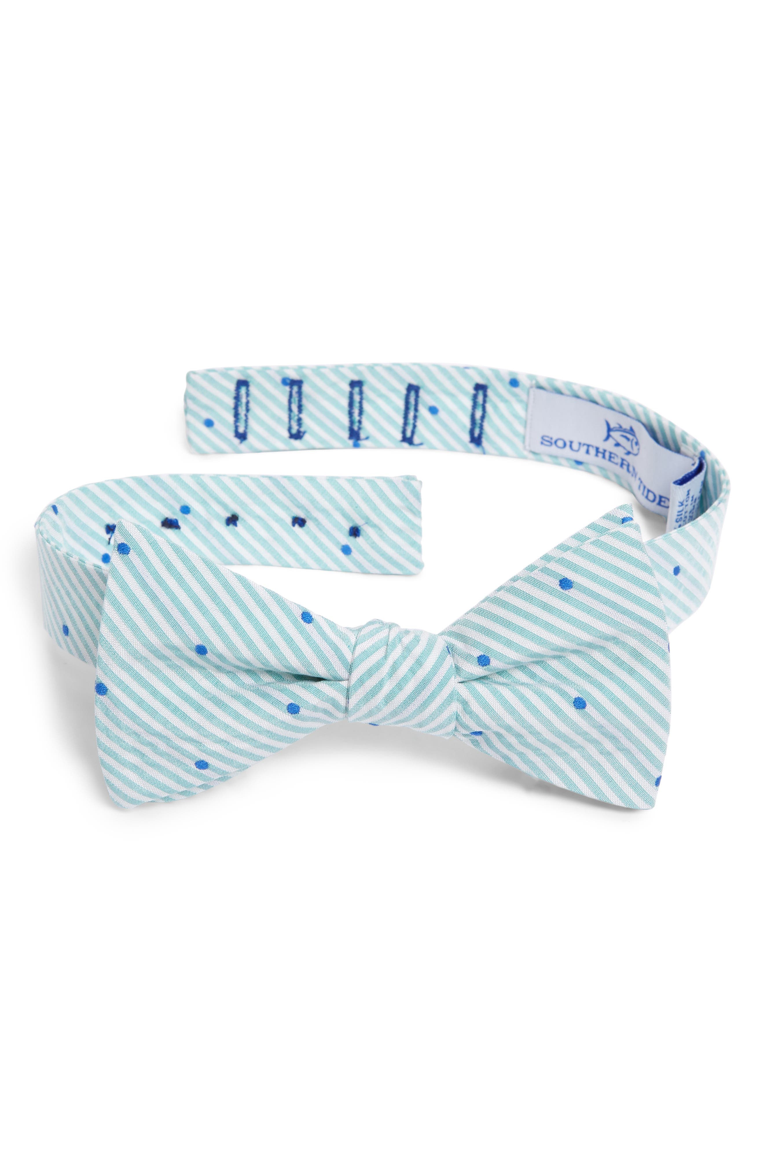 Charleston Dot Cotton & Silk Bow Tie,                         Main,                         color, Mint