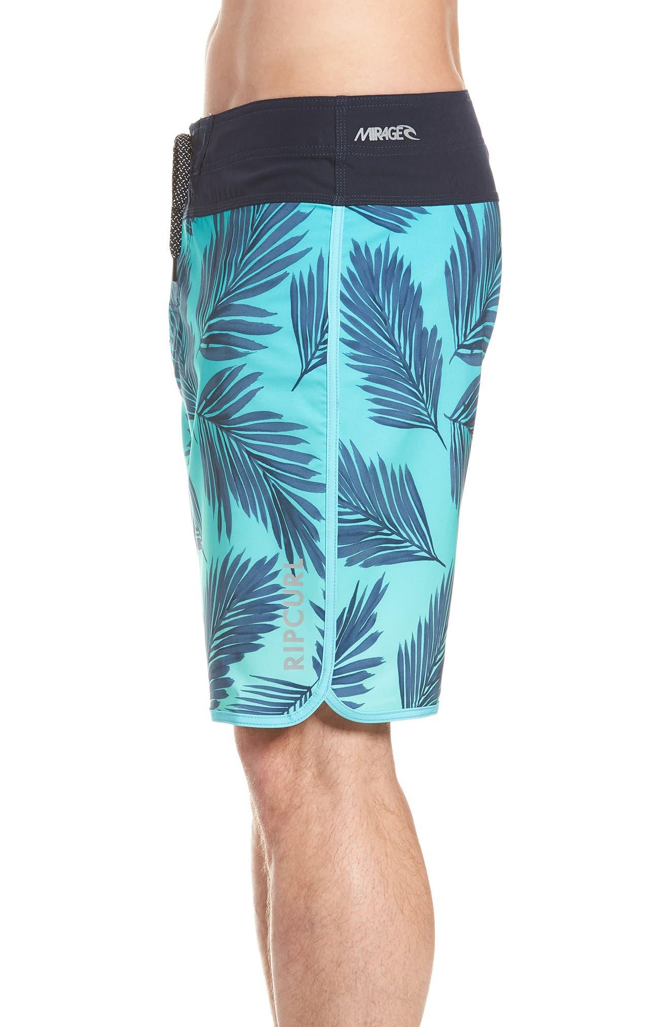 Mirage Mason Rockies Board Shorts,                             Alternate thumbnail 4, color,                             Teal