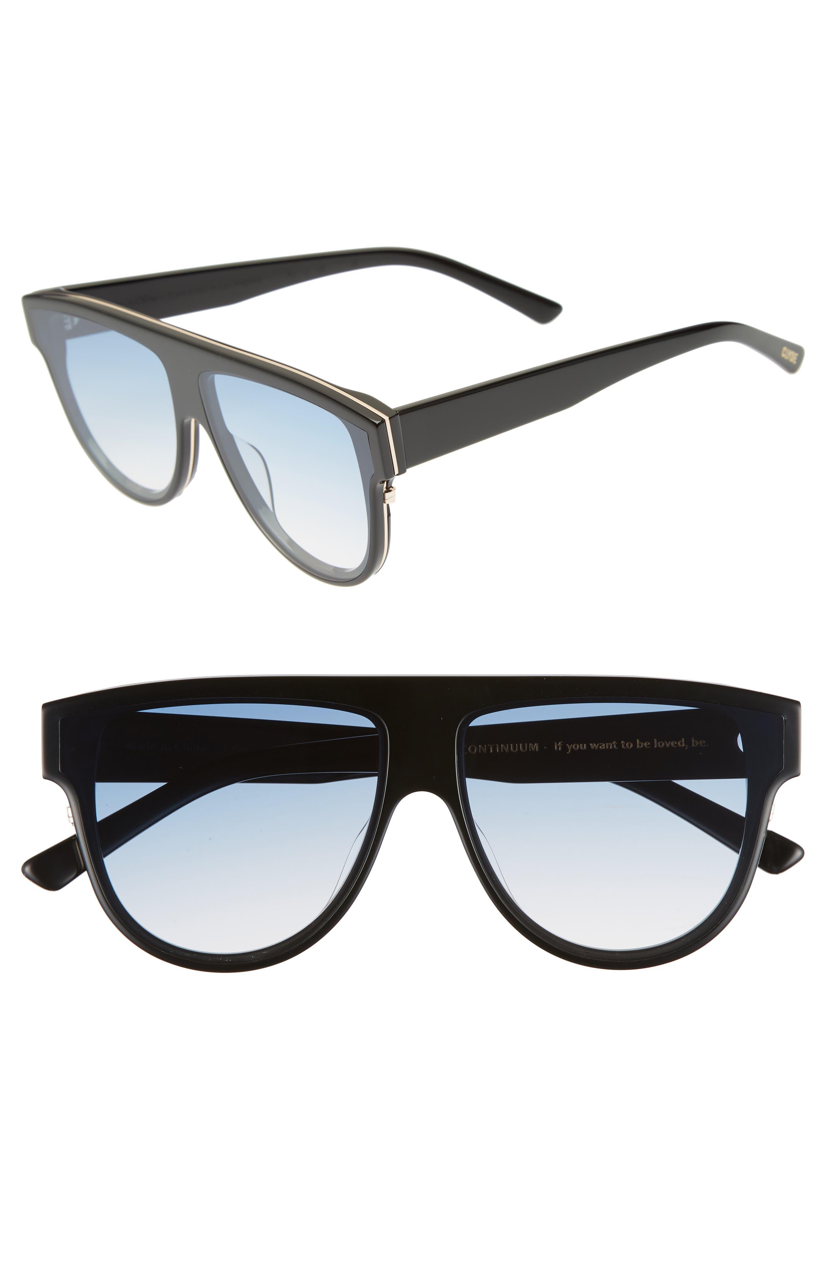 Continuum 63mm Oversize Flat Top Sunglasses,                             Main thumbnail 1, color,                             Blue Gradient