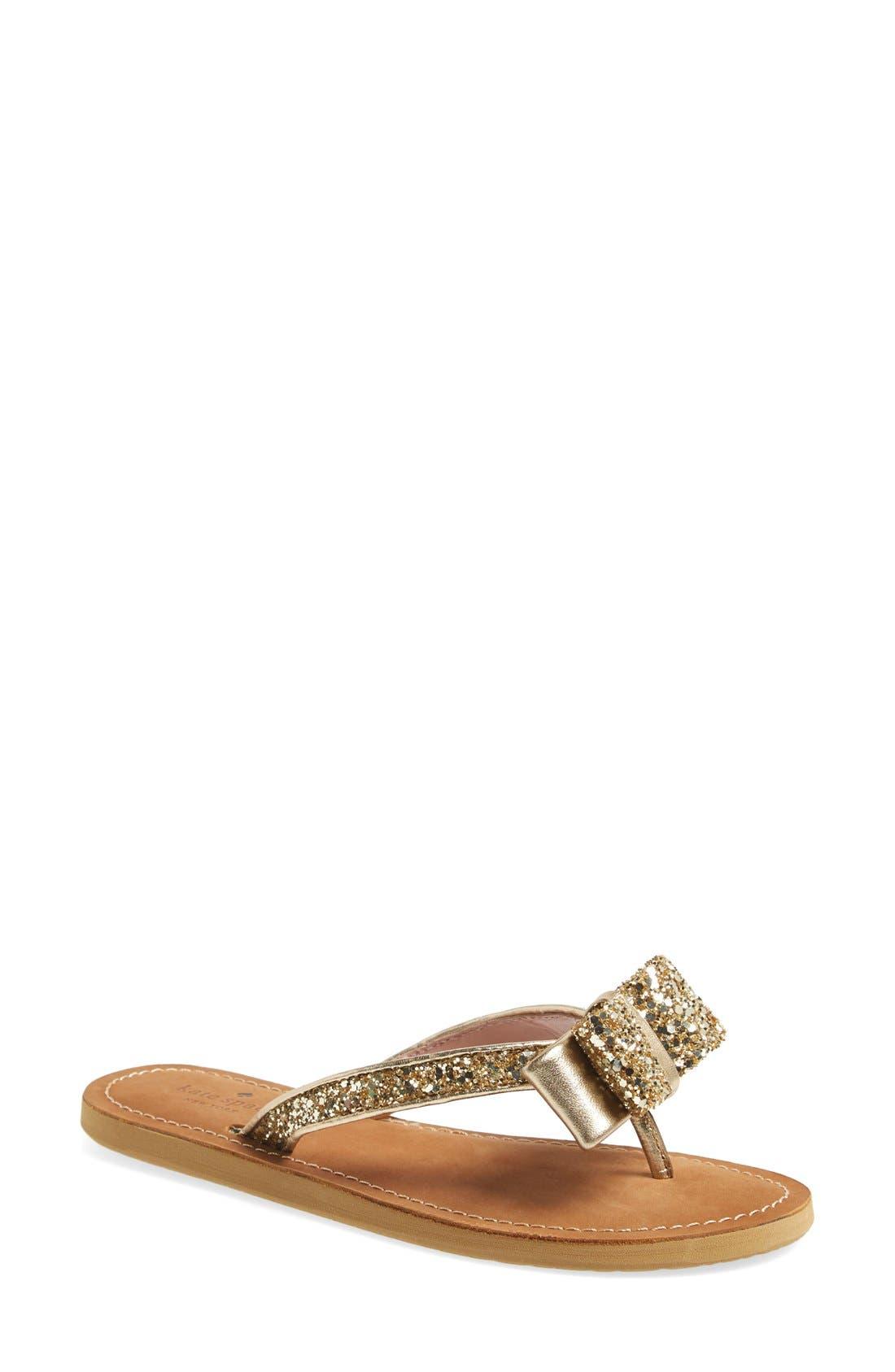 'icarda' glitter flip flop,                         Main,                         color, Gold