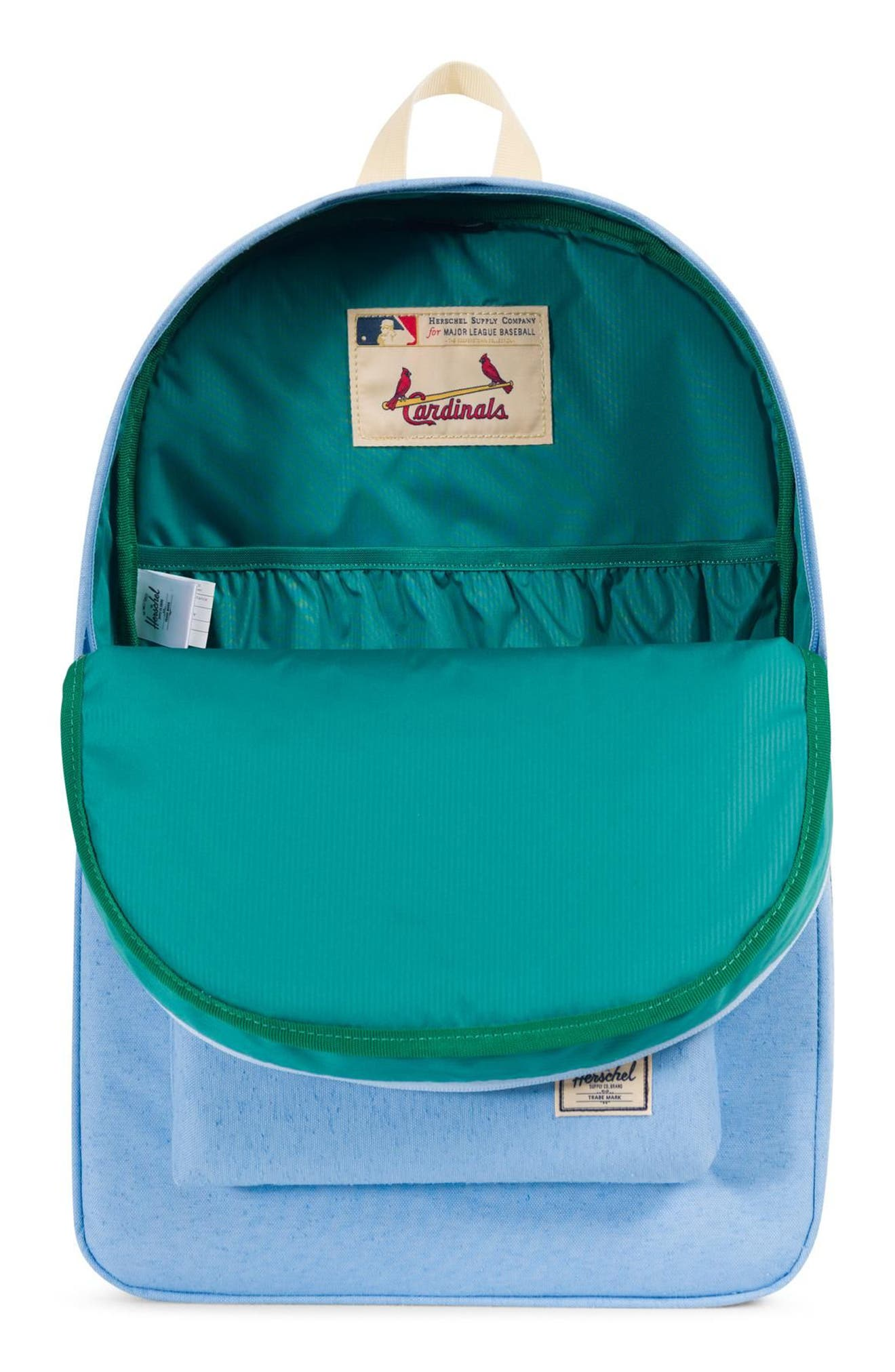 HERSCHEL SUPPLY CO. HERITAGE - MLB COOPERSTOWN COLLECTION BACKPACK - BLUE, ST. LOUIS CARDINALS