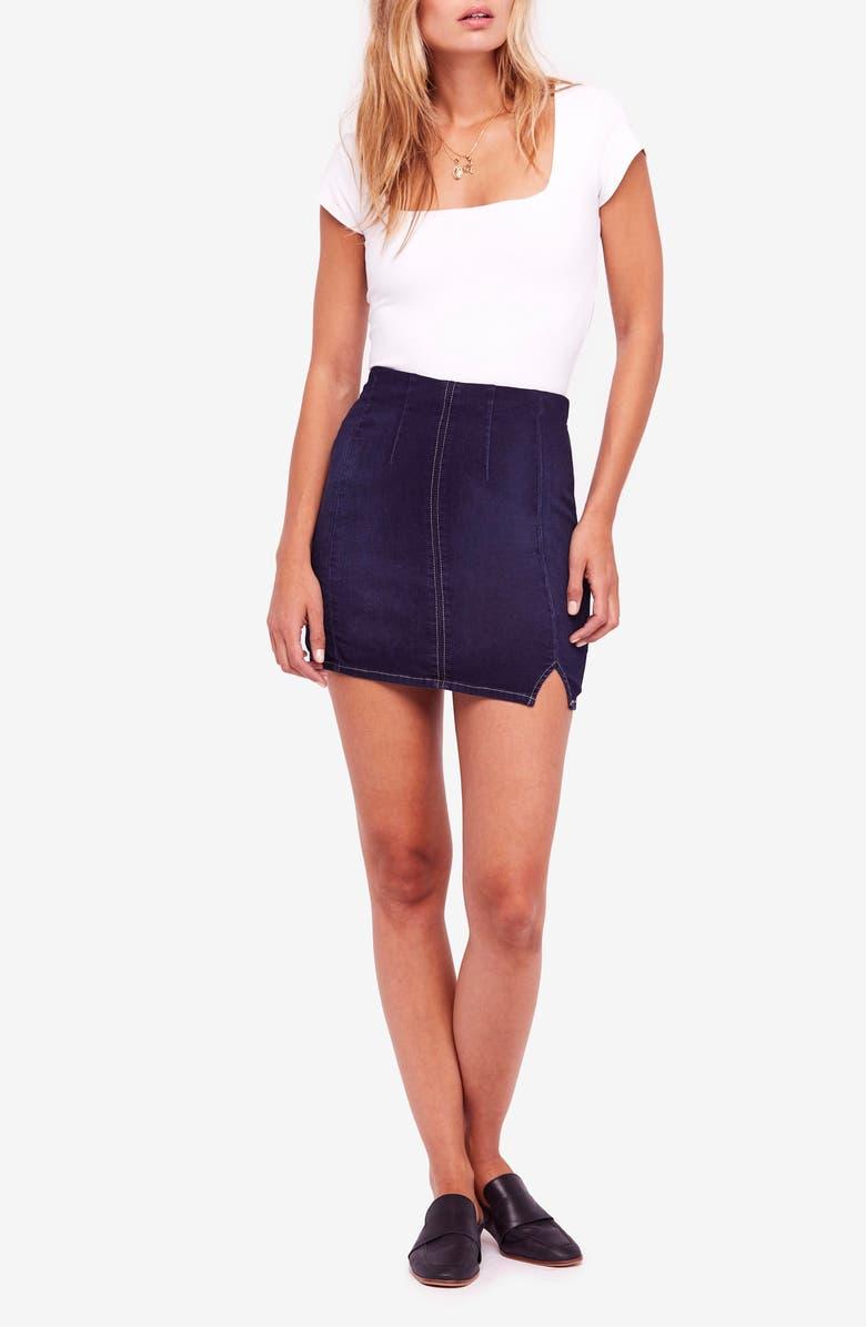 Femme Fatale Stretch Denim Miniskirt