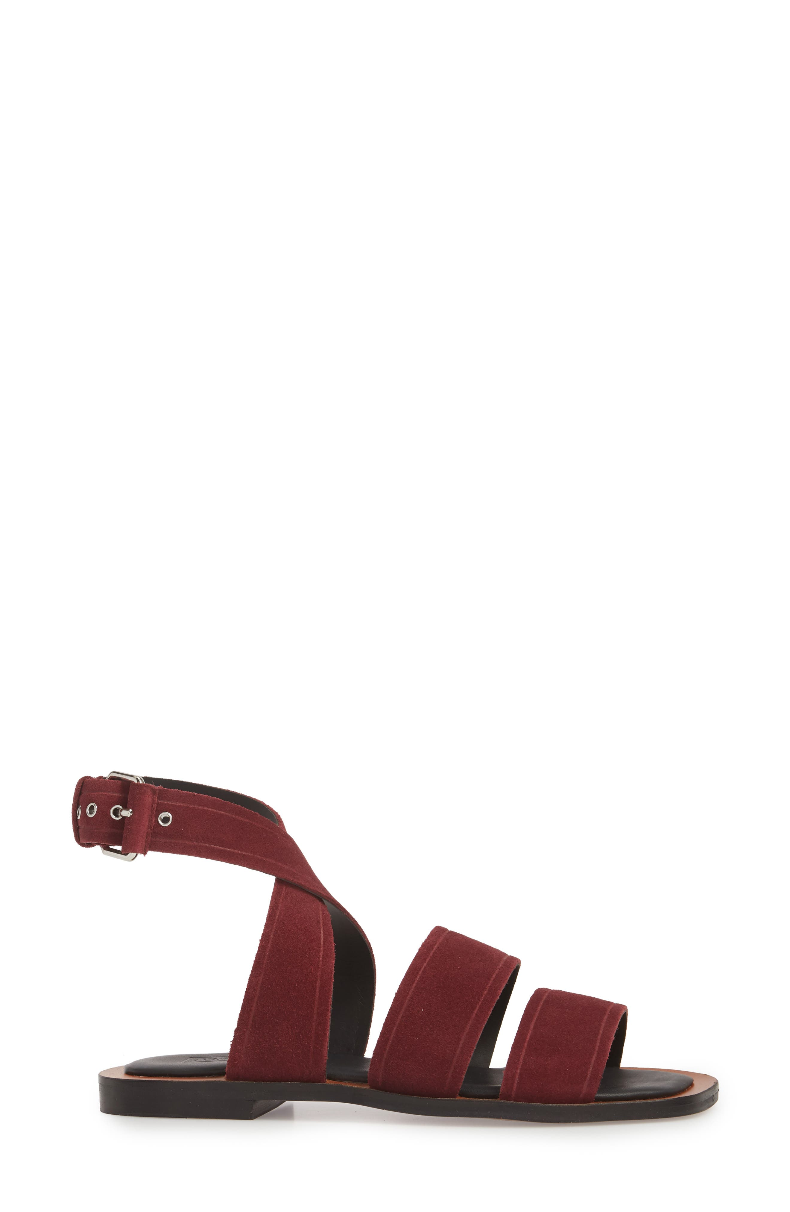 Fume Strappy Sandal,                             Alternate thumbnail 3, color,                             Burgundy Multi