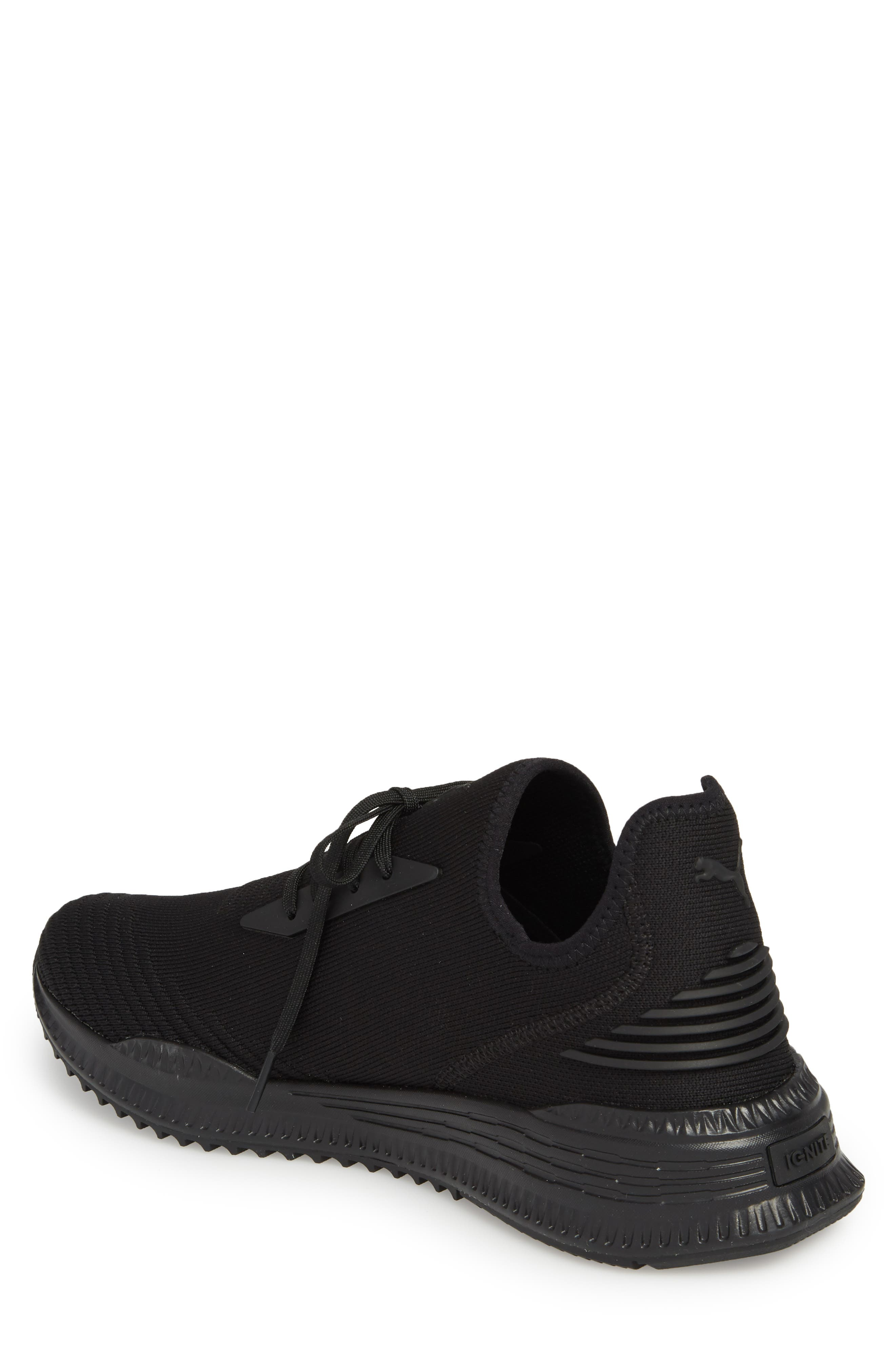 AVID evoKNIT Sneaker,                             Alternate thumbnail 2, color,                             Black/ Black