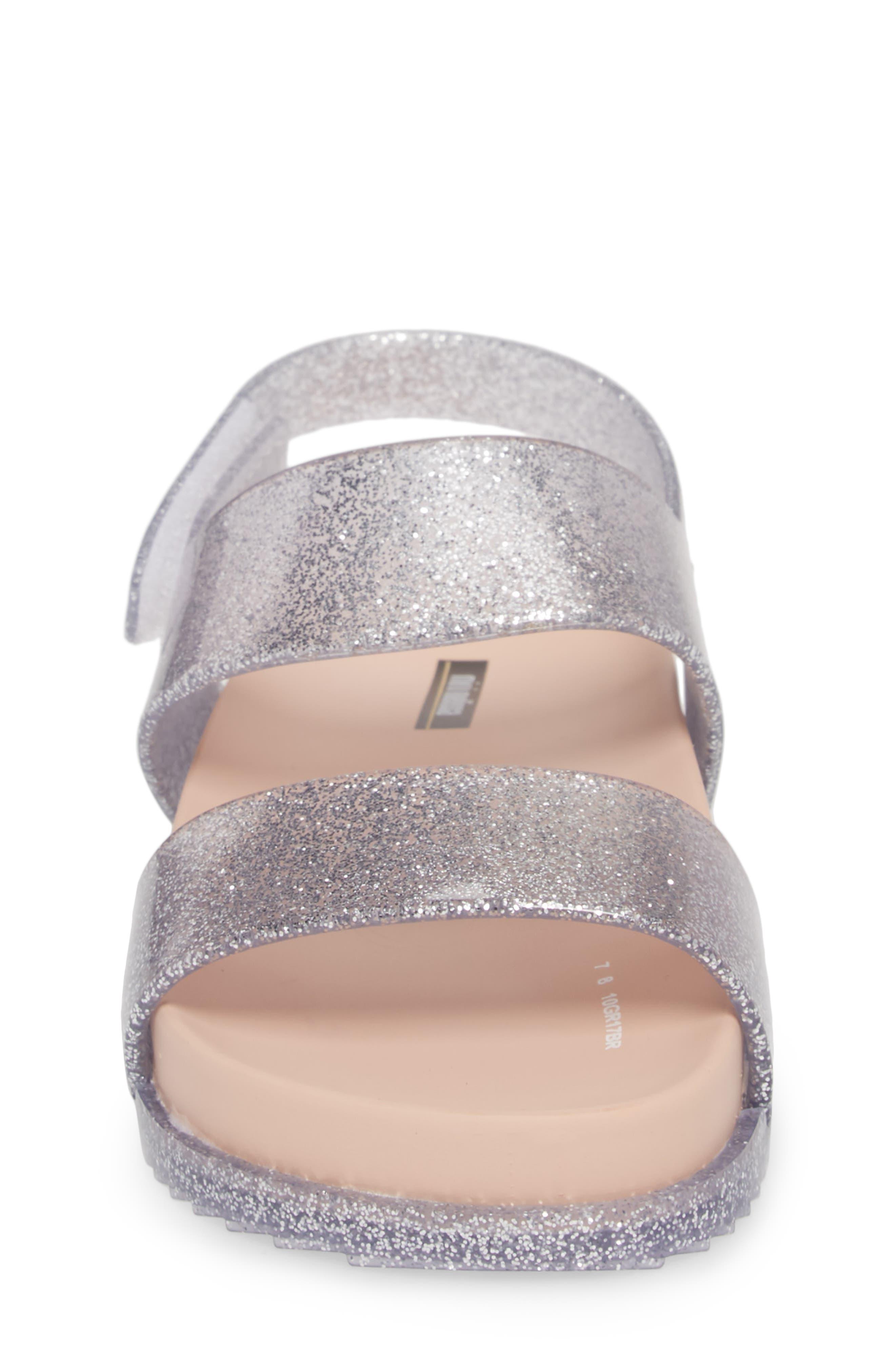 Glittery Cosmic Sandal,                             Alternate thumbnail 4, color,                             Pink Silver Sparkle