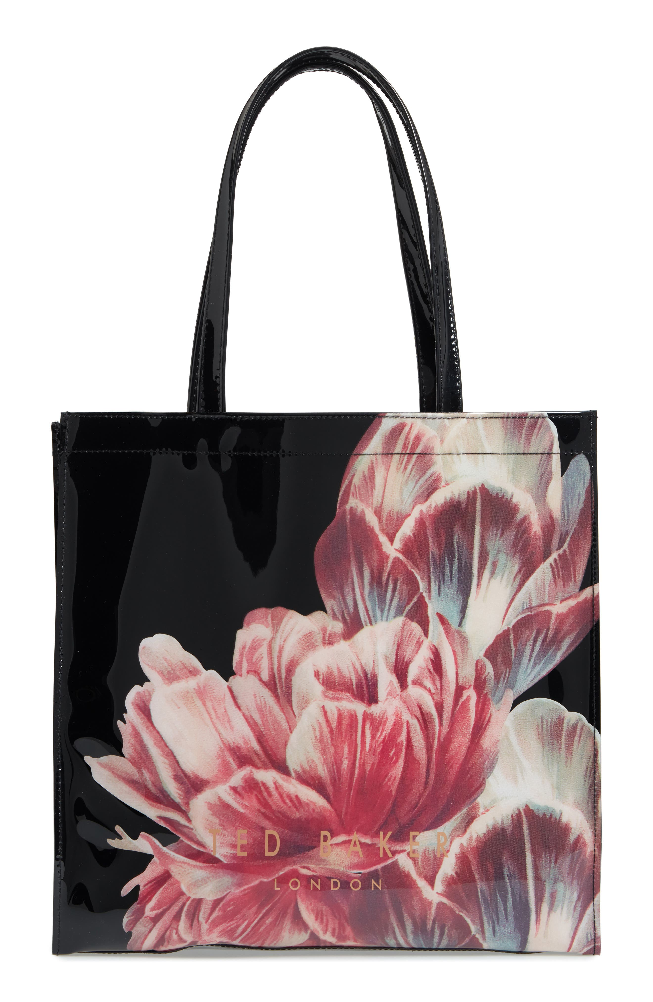Tranquility Large Icon Tote,                             Alternate thumbnail 3, color,                             Black