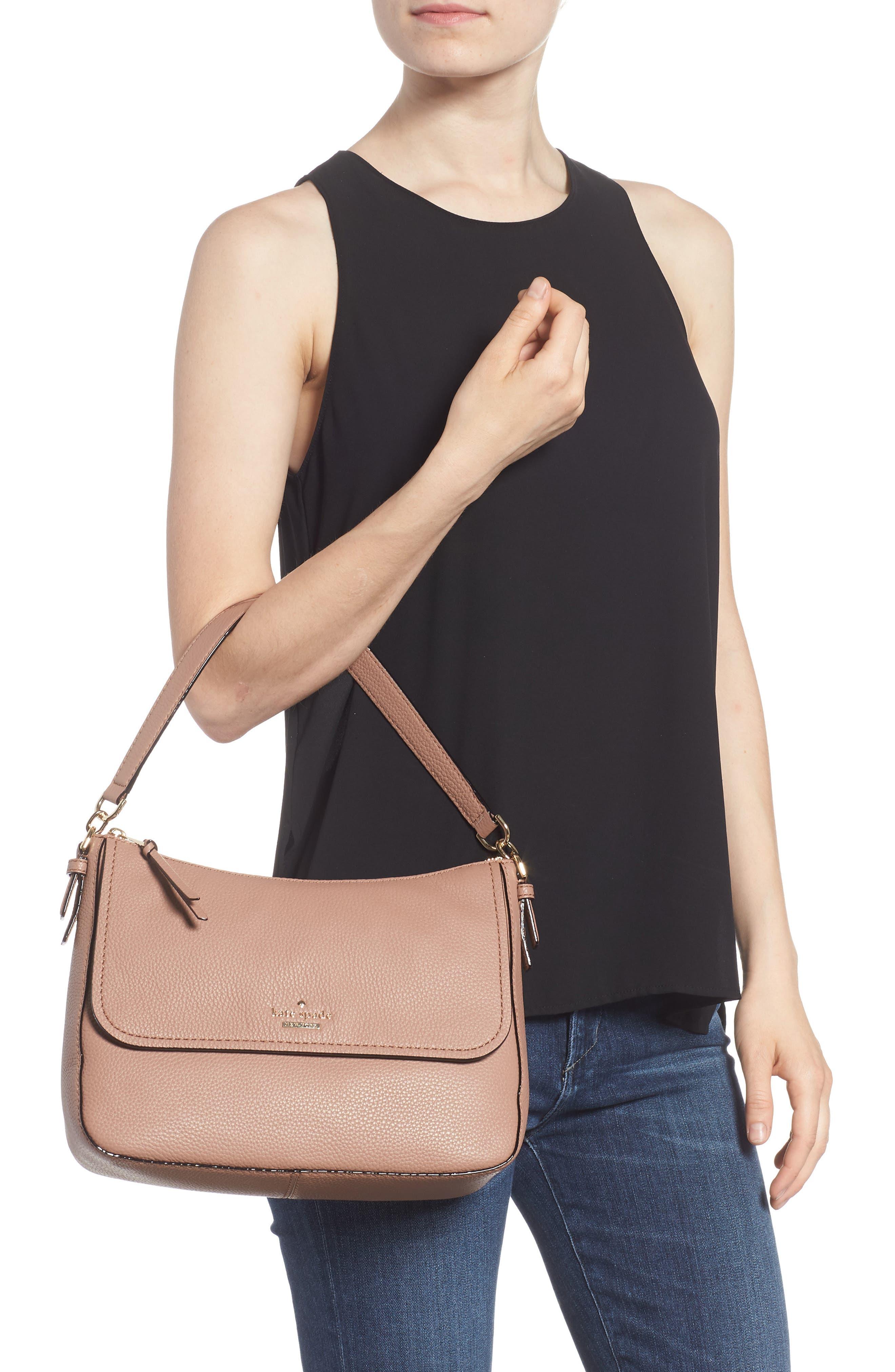 jackson street - colette leather satchel,                             Alternate thumbnail 2, color,                             Toasty