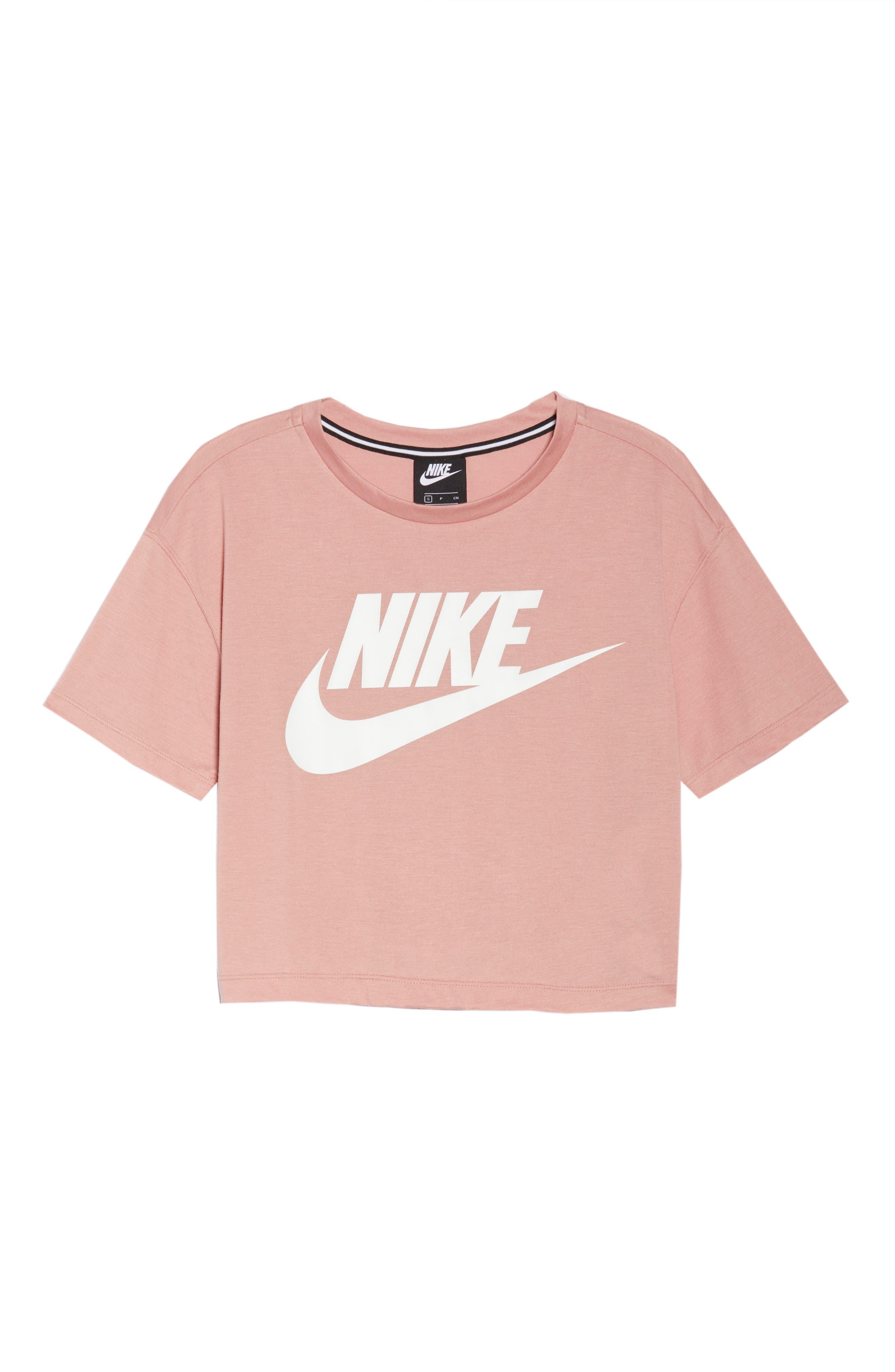 Sportswear Crop Top,                             Alternate thumbnail 7, color,                             Rust Pink/ White
