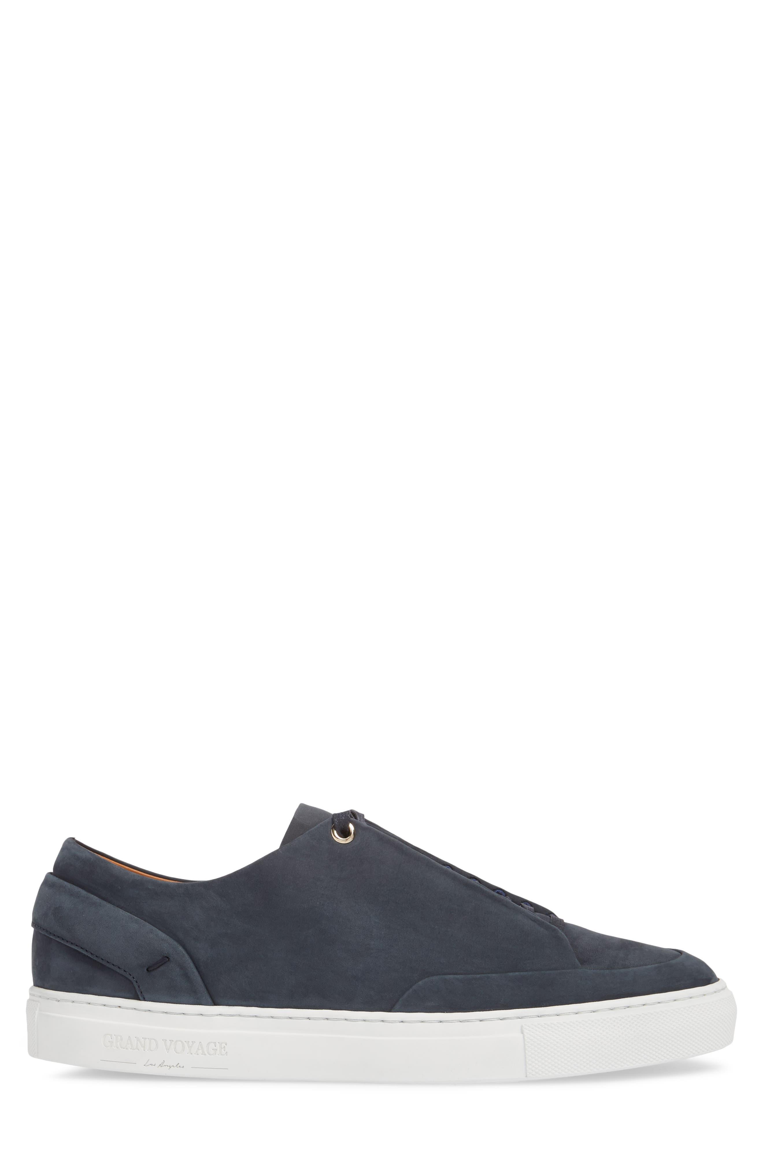 Avedon Sneaker,                             Alternate thumbnail 3, color,                             Navy Nubuck Leather