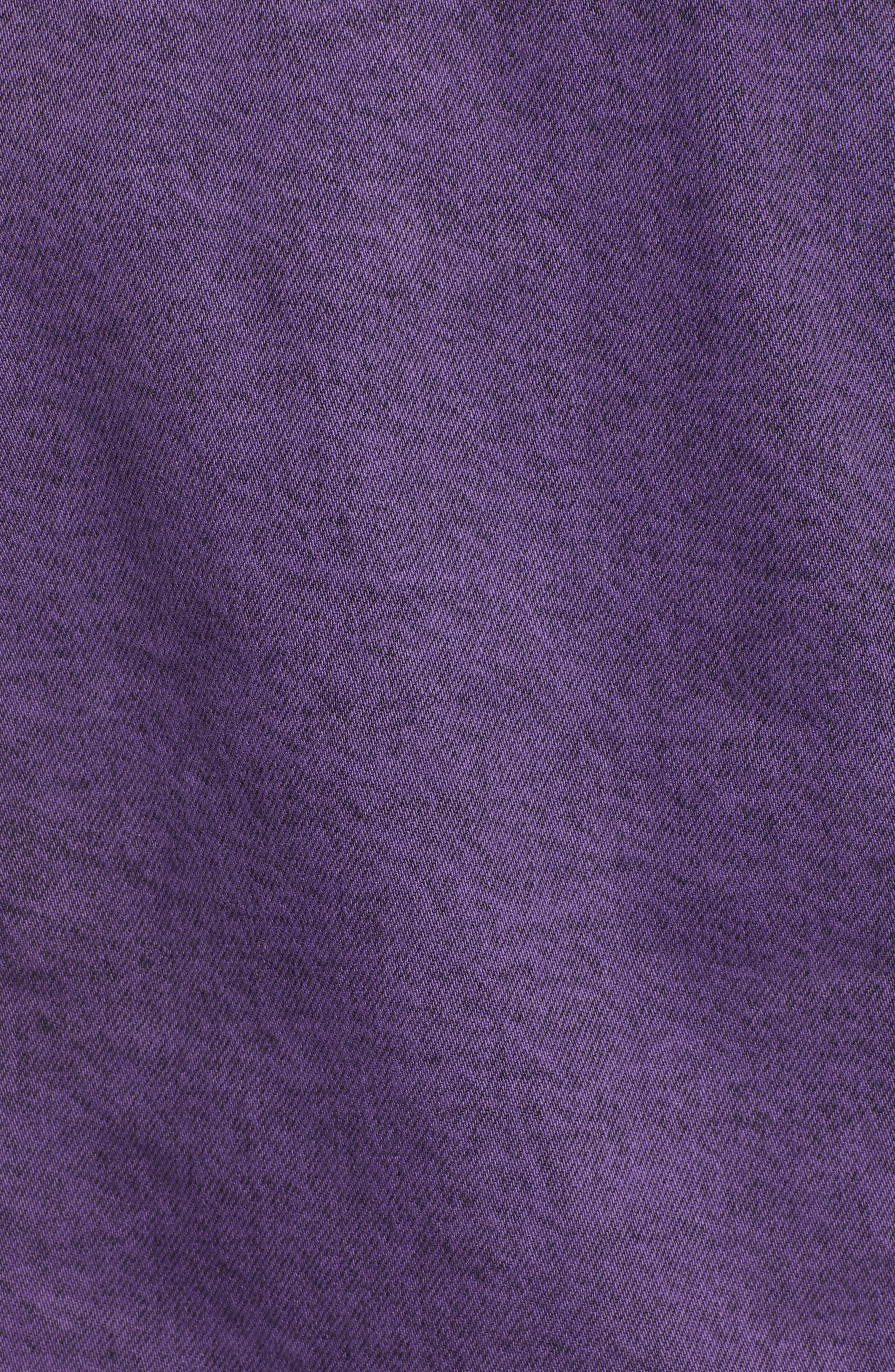 Denim Jacket,                             Alternate thumbnail 6, color,                             Purple Pop