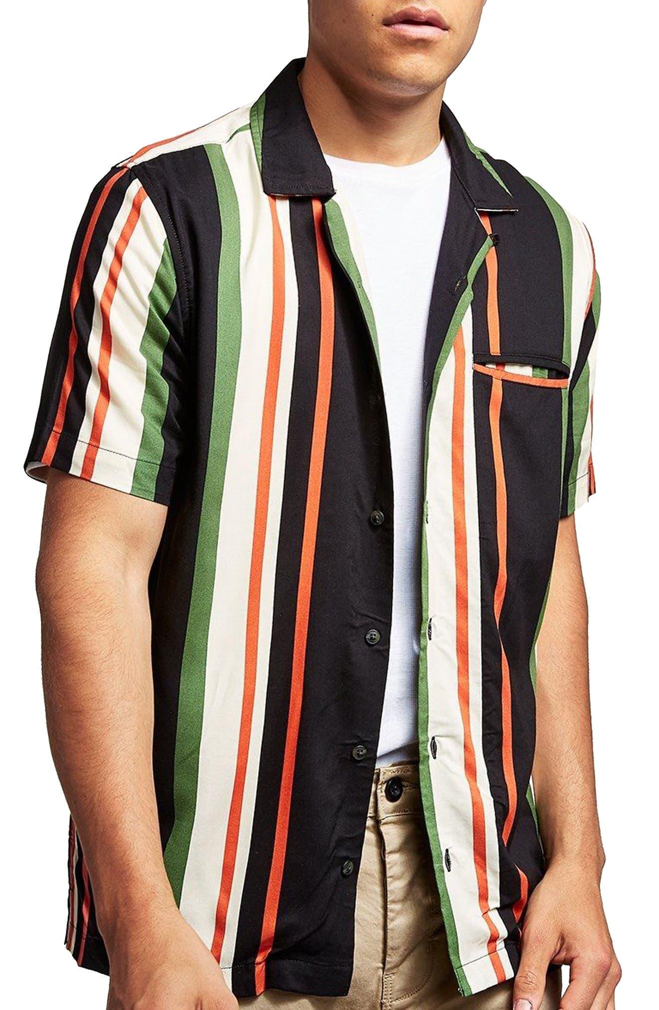 Stripe Shirt,                         Main,                         color, White Multi
