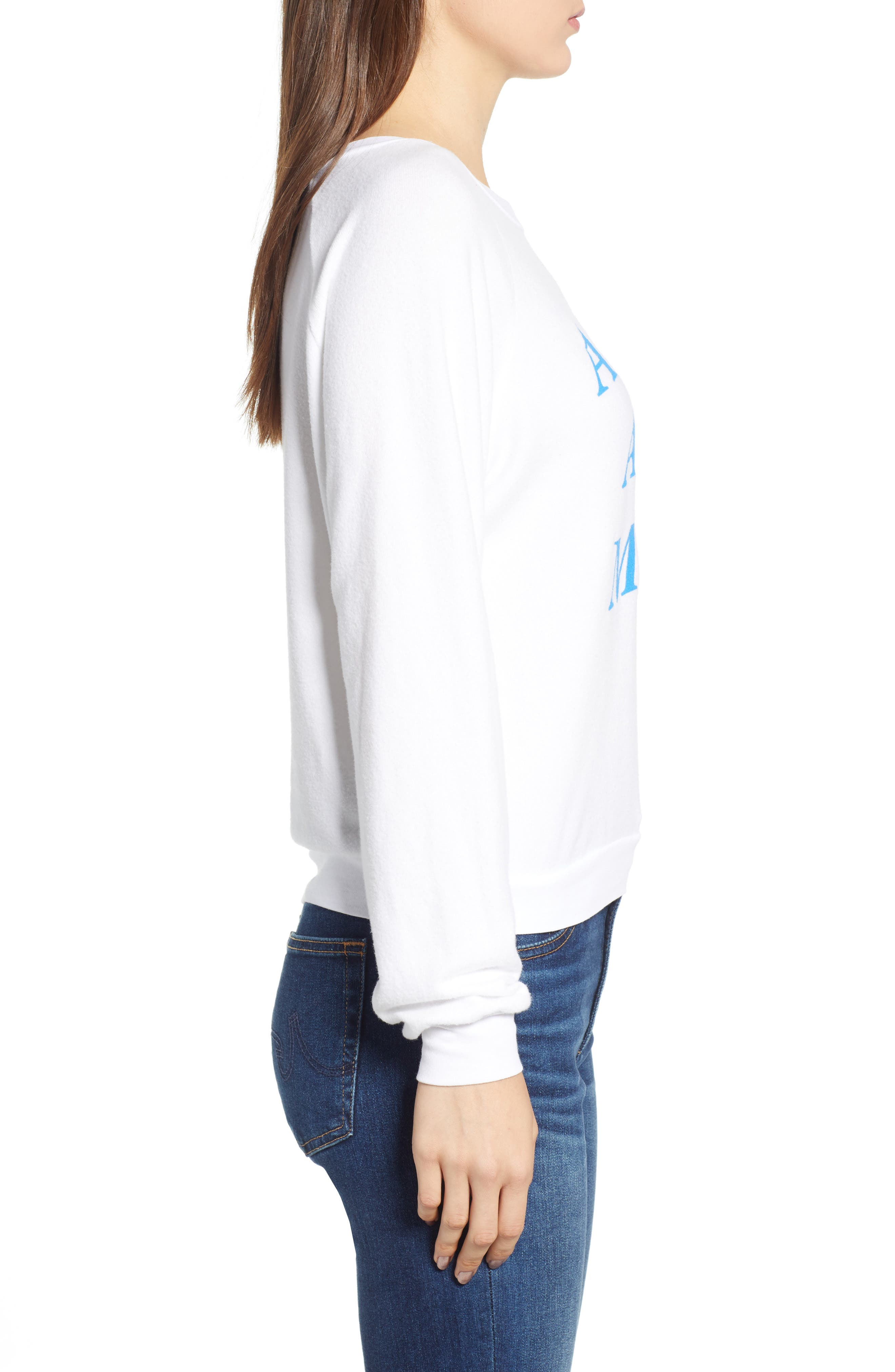 Ask Me About My Dog Sweatshirt,                             Alternate thumbnail 3, color,                             Clean White