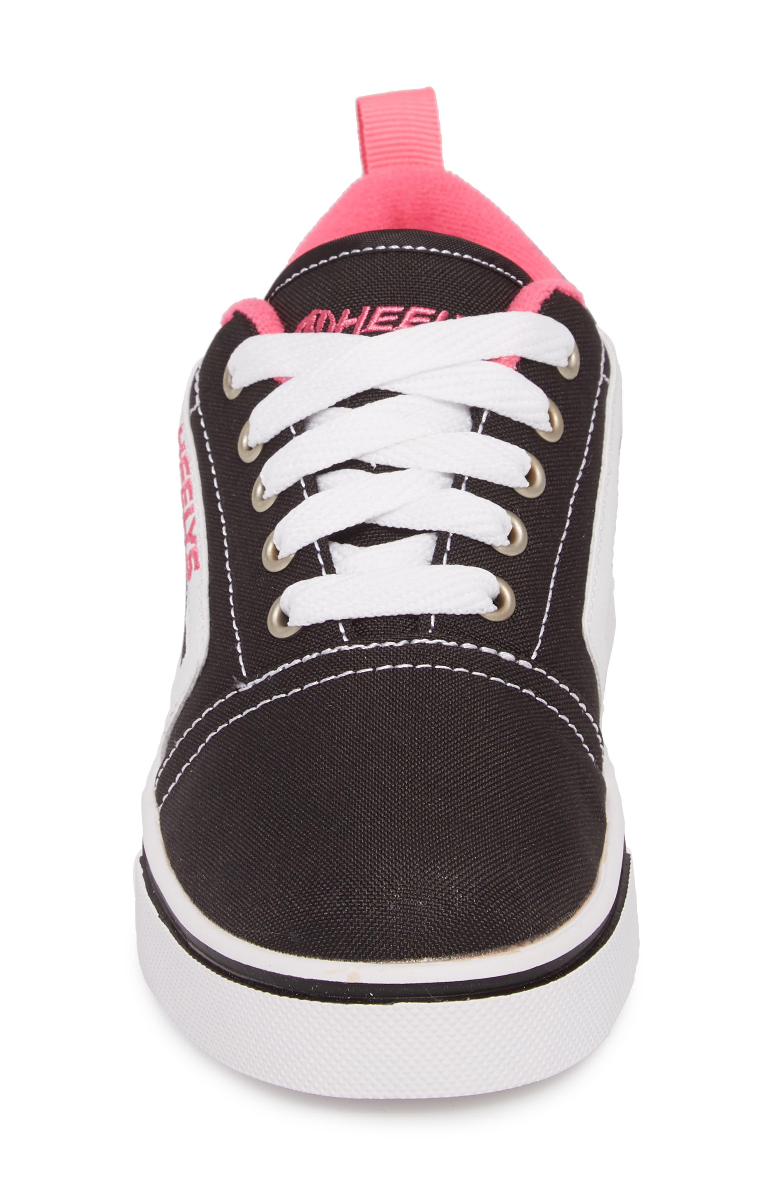 GR8 Pro Wheeled Sneaker,                             Alternate thumbnail 4, color,                             Black/ White/ Hot Pink