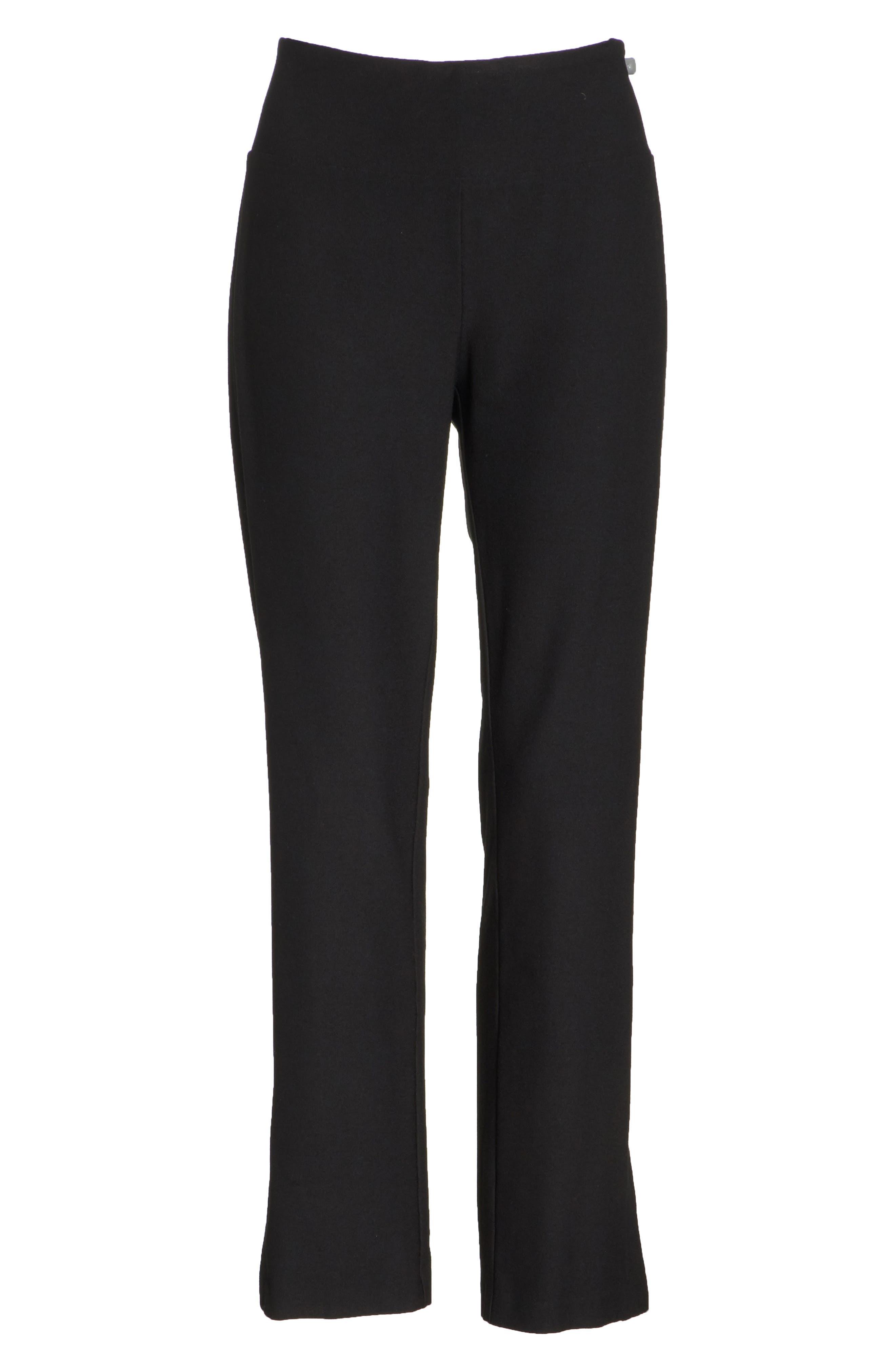 Slim Knit Pants,                             Alternate thumbnail 7, color,                             Black