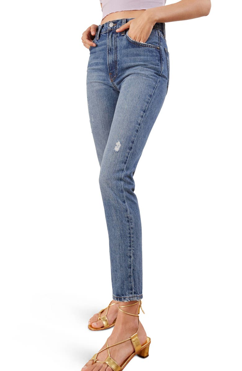 Julia Crop High Waist Cigarette Jeans