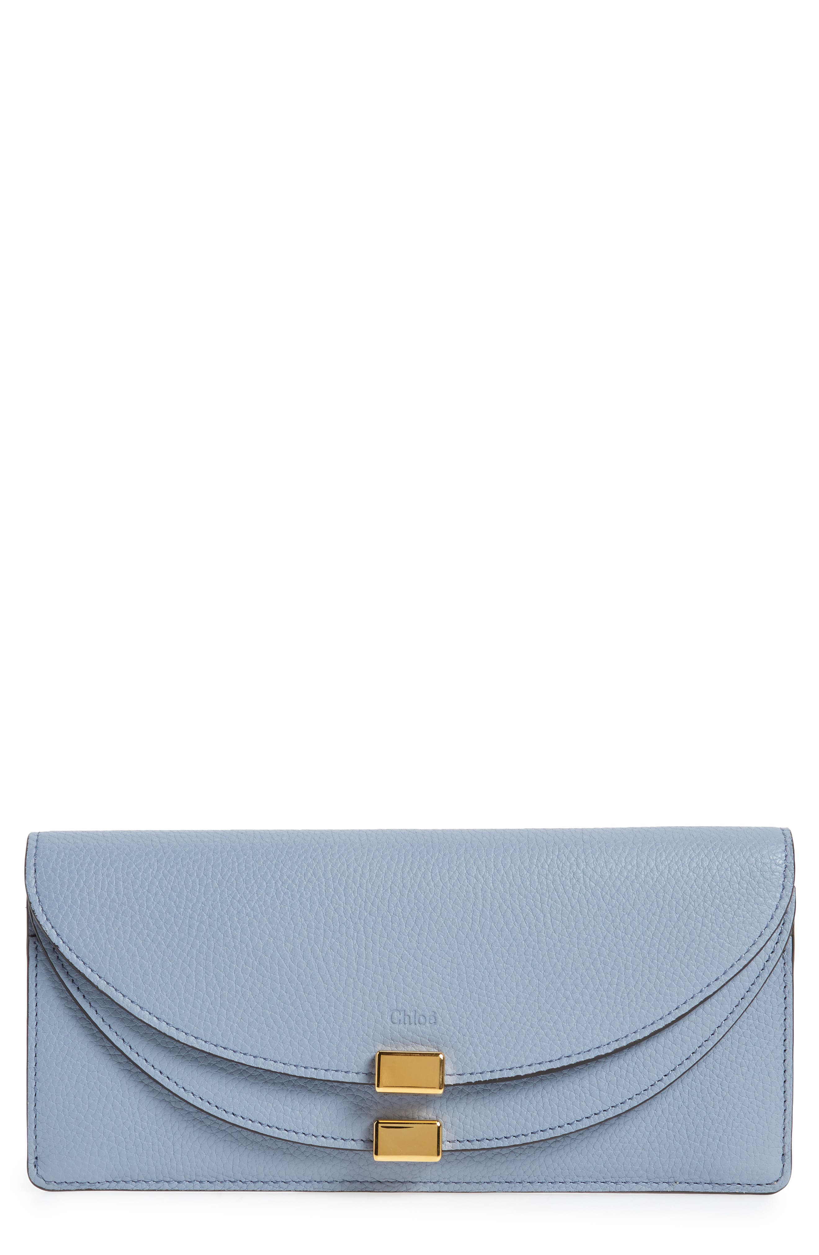 Georgia Continental Leather Wallet,                         Main,                         color, Washed Blue