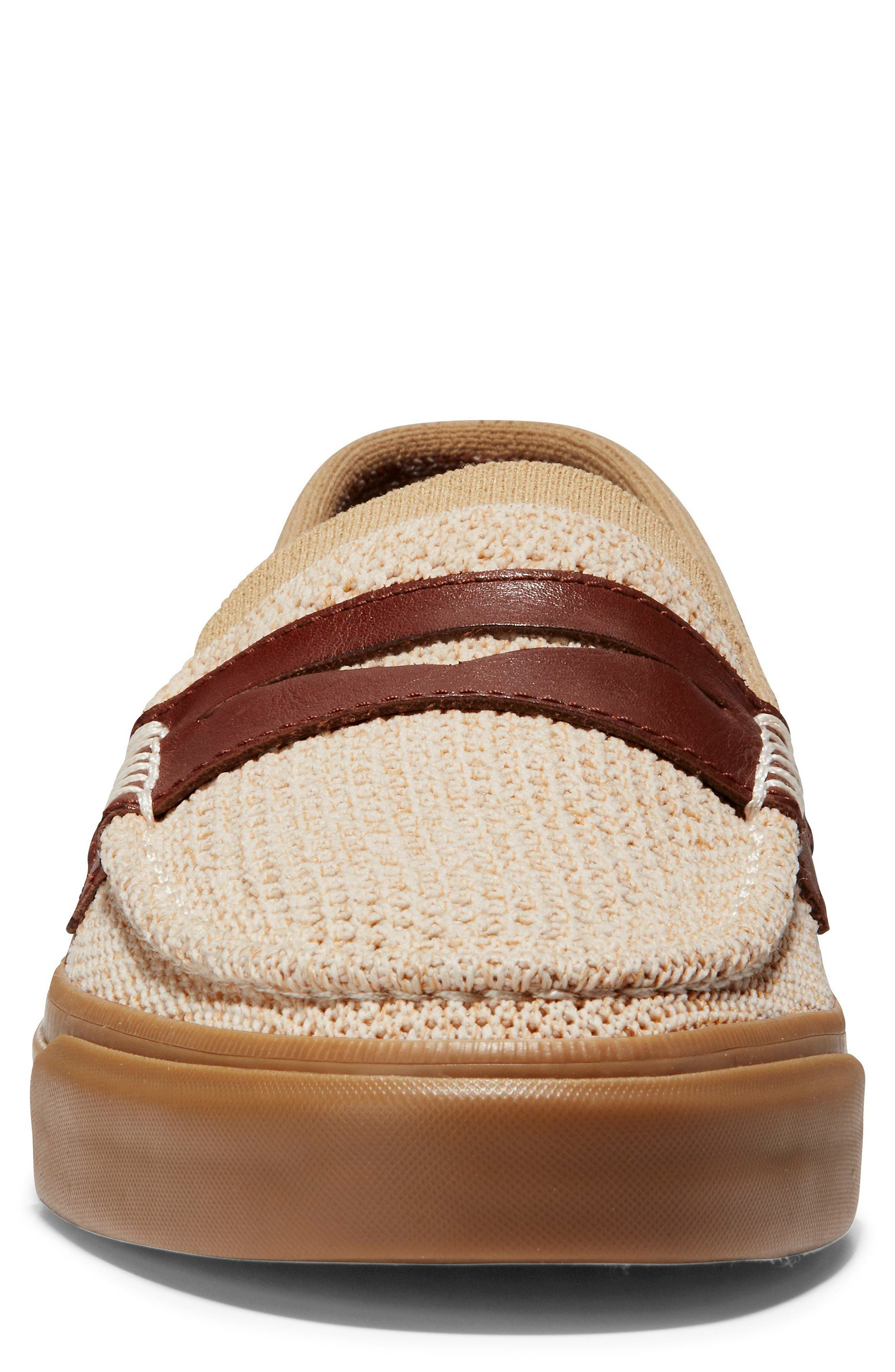 Pinch Weekend Stitch Penny Loafer,                             Alternate thumbnail 4, color,                             Iced Coffee/ Sand/ Woodbury
