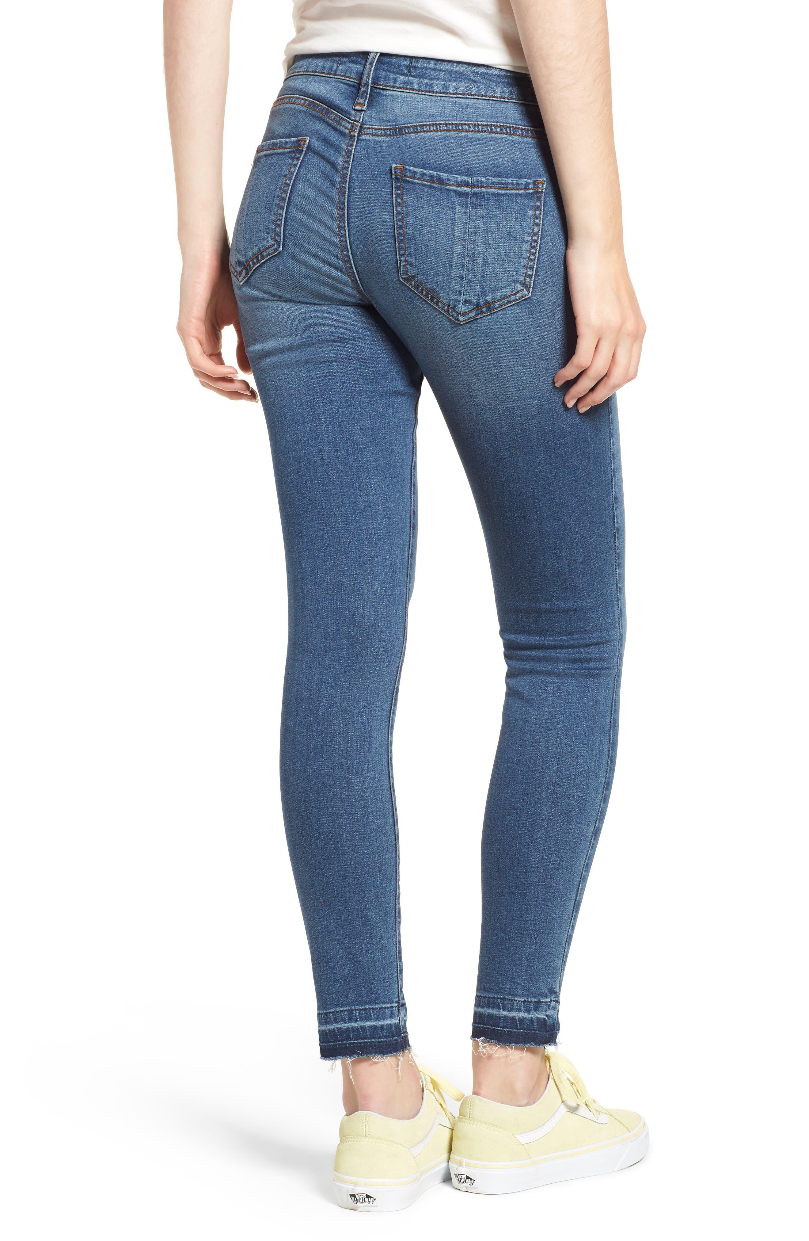 Release Hem Skinny Jeans,                             Alternate thumbnail 2, color,                             Pretty