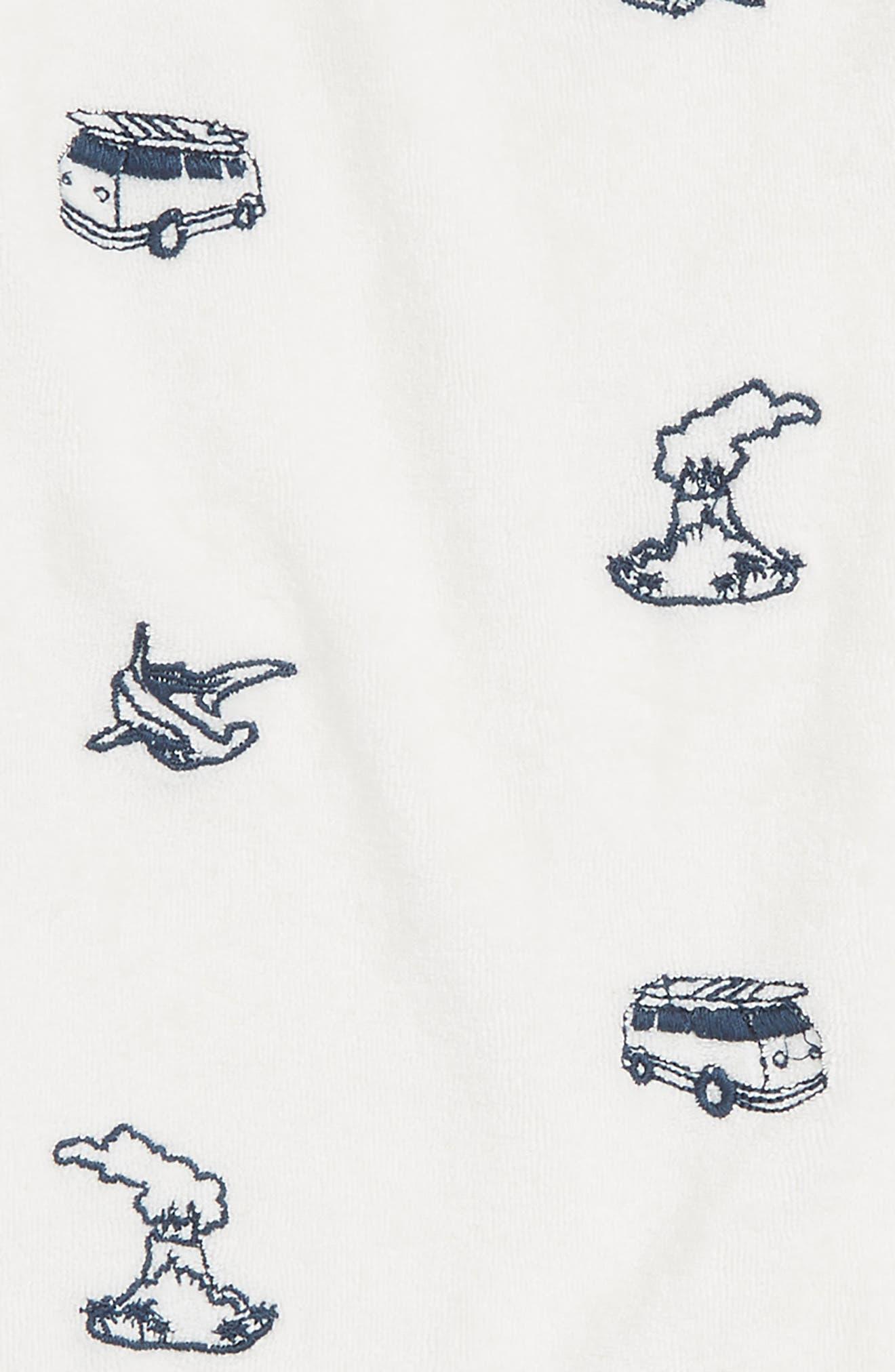 All Over Print Romper,                             Alternate thumbnail 2, color,                             White Volcanoes
