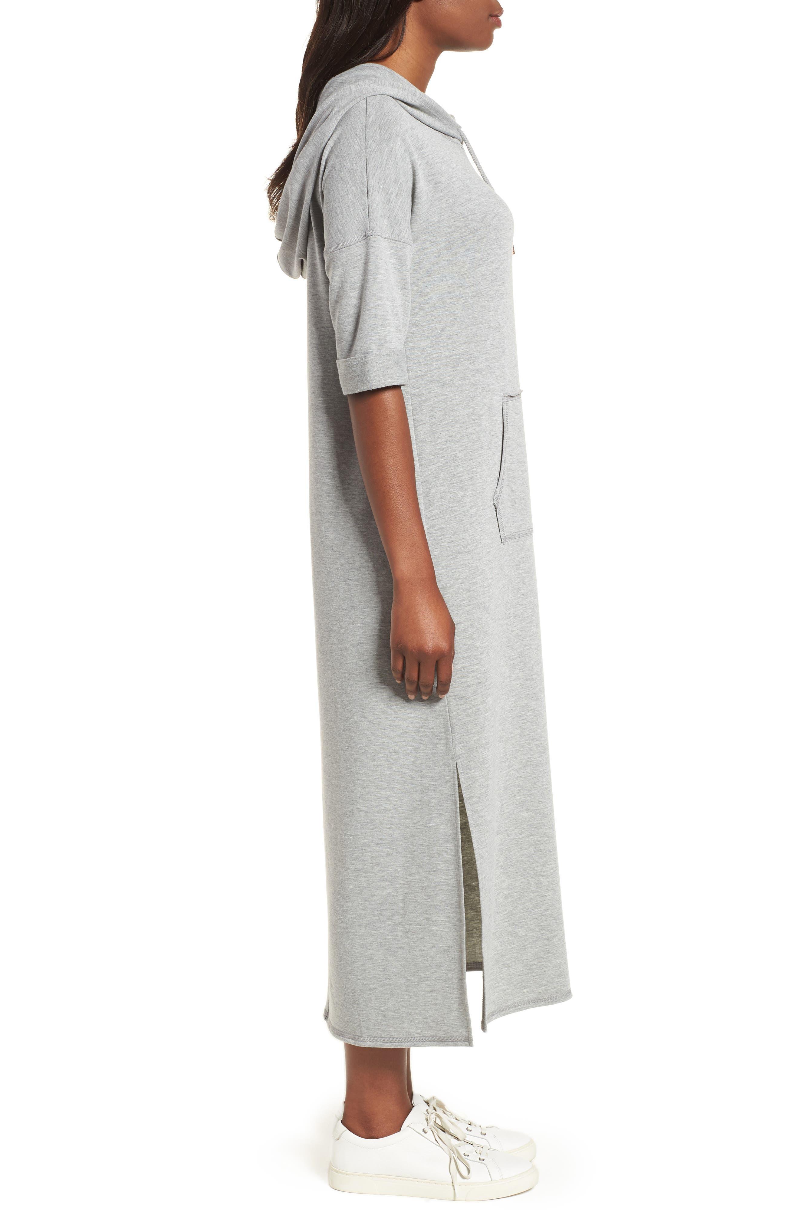 Off-Duty Knit Maxi Dress,                             Alternate thumbnail 3, color,                             Grey Heather