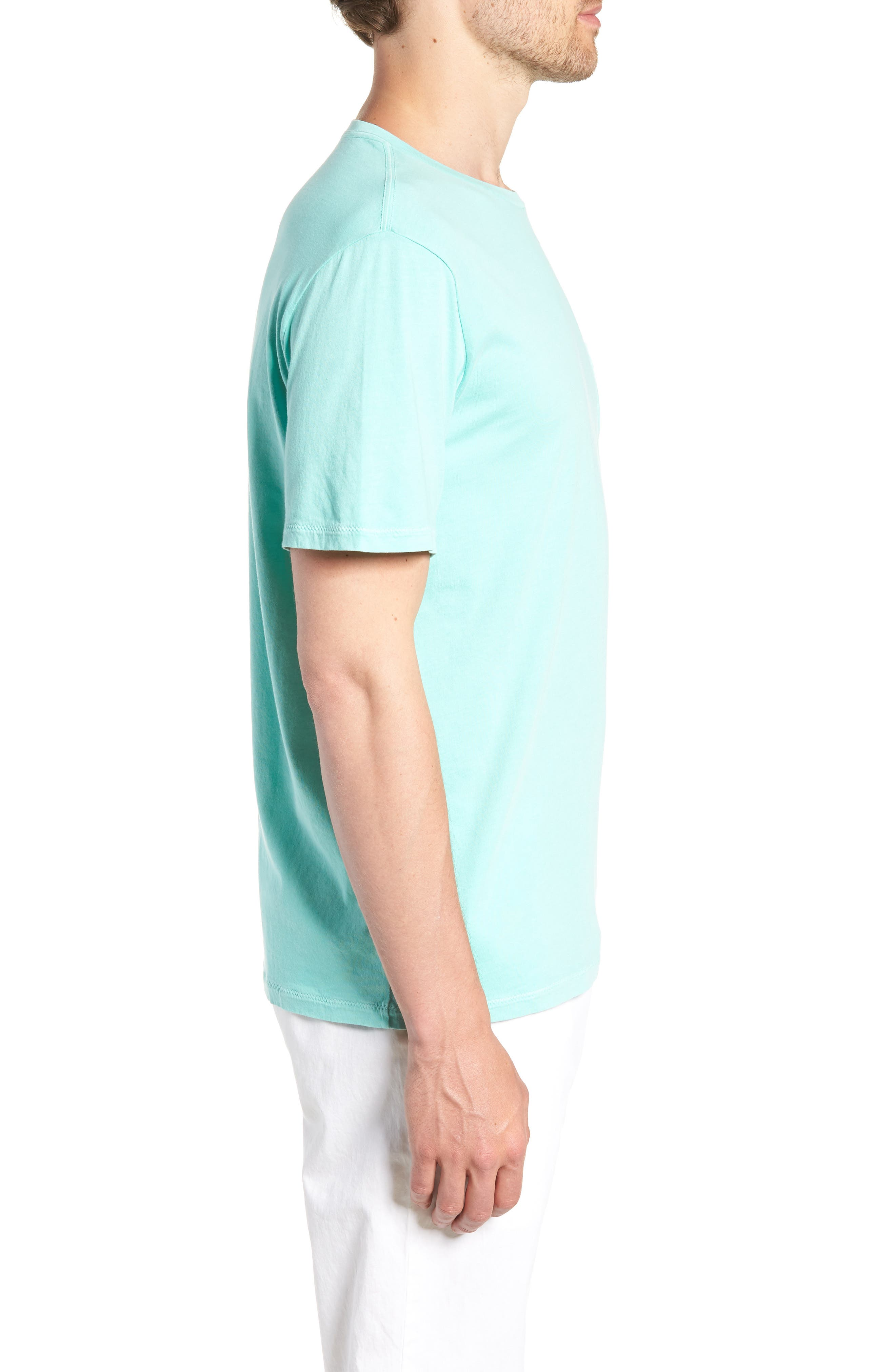 Dockside Regular Fit Crewneck T-Shirt,                             Alternate thumbnail 4, color,                             Capri Blue
