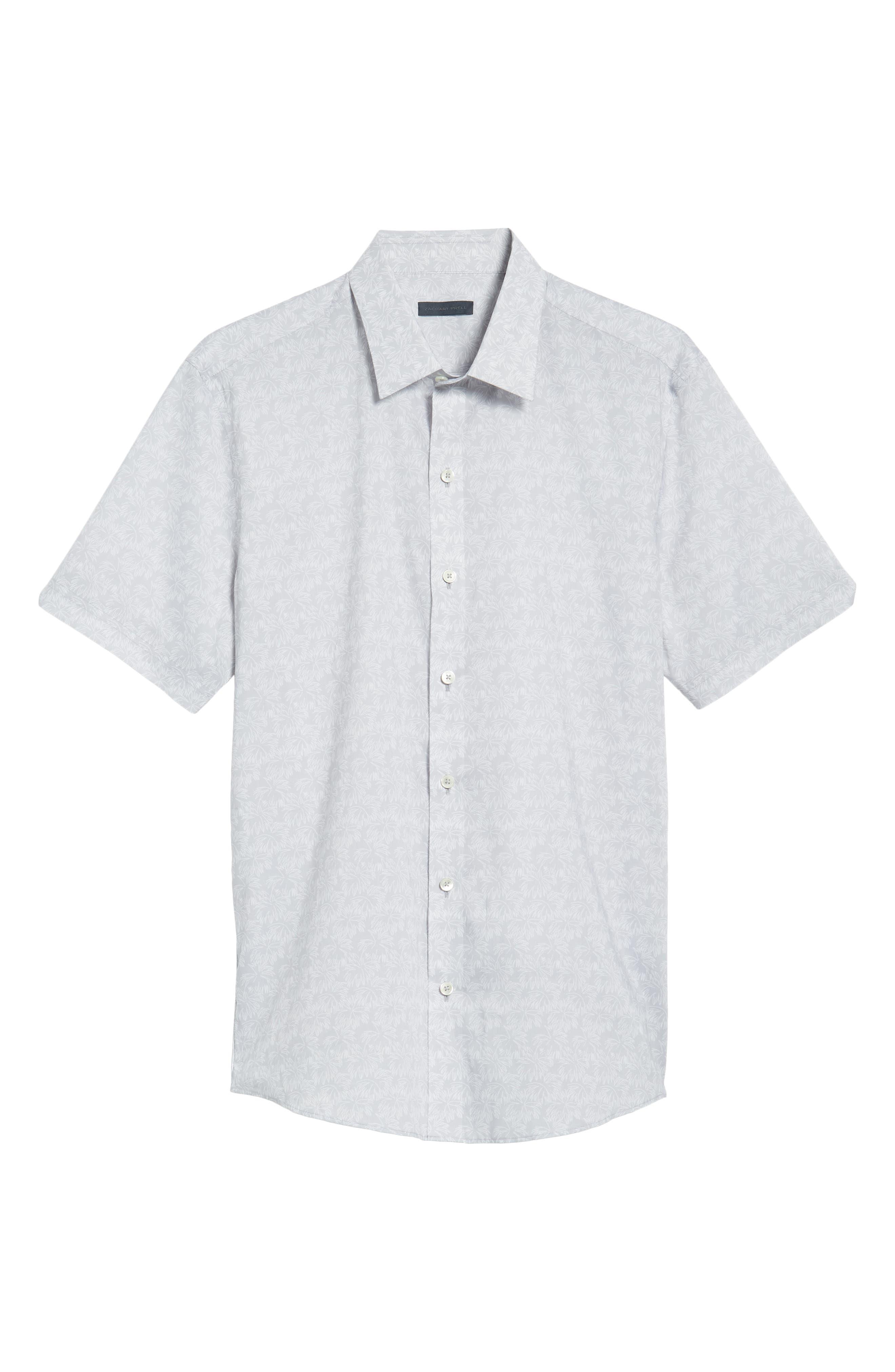 Slenske Trim Fit Sport Shirt,                             Alternate thumbnail 6, color,                             Light Grey