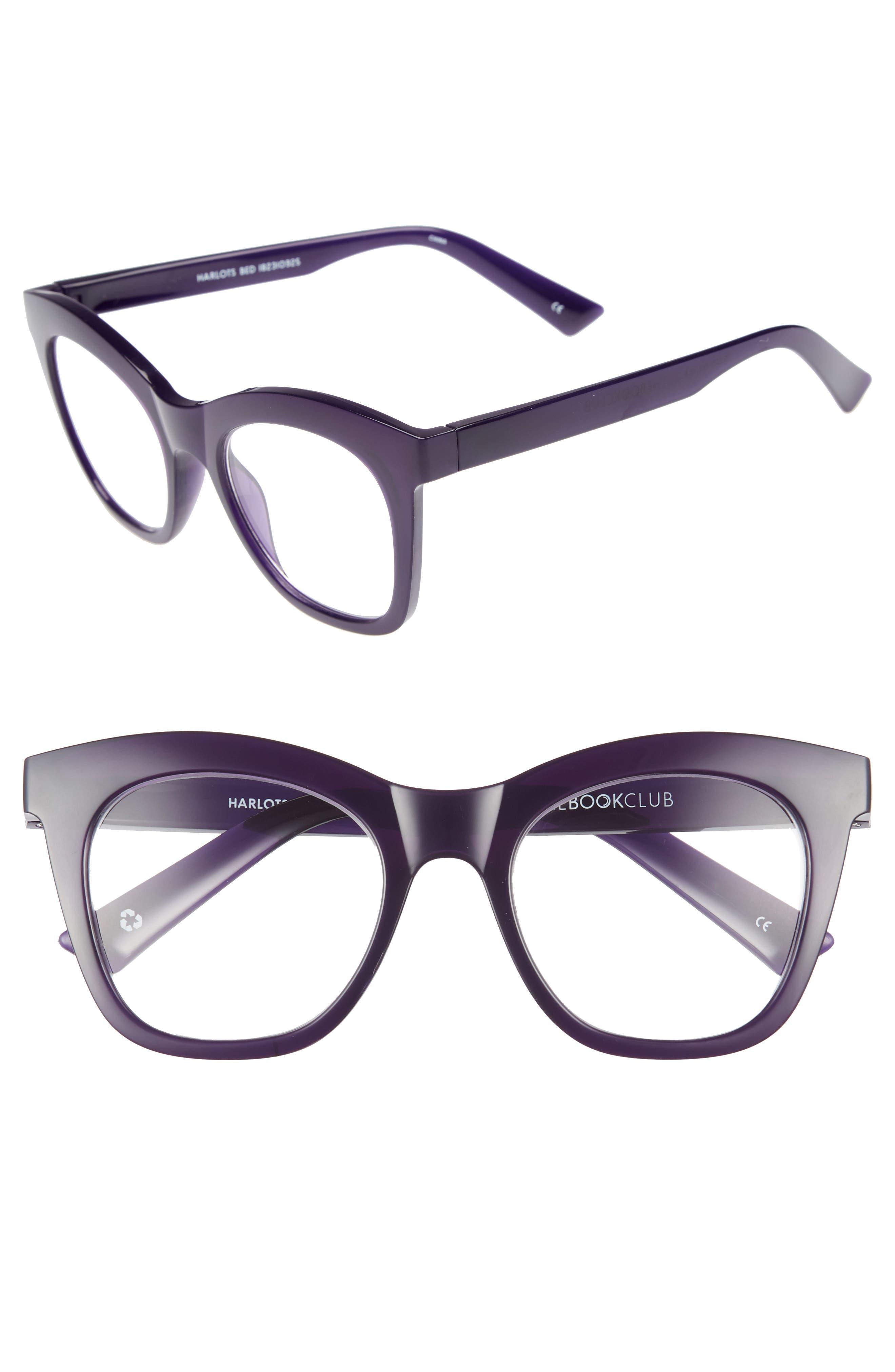 Harlot's Bed 51mm Reading Glasses,                         Main,                         color, Deep Purple