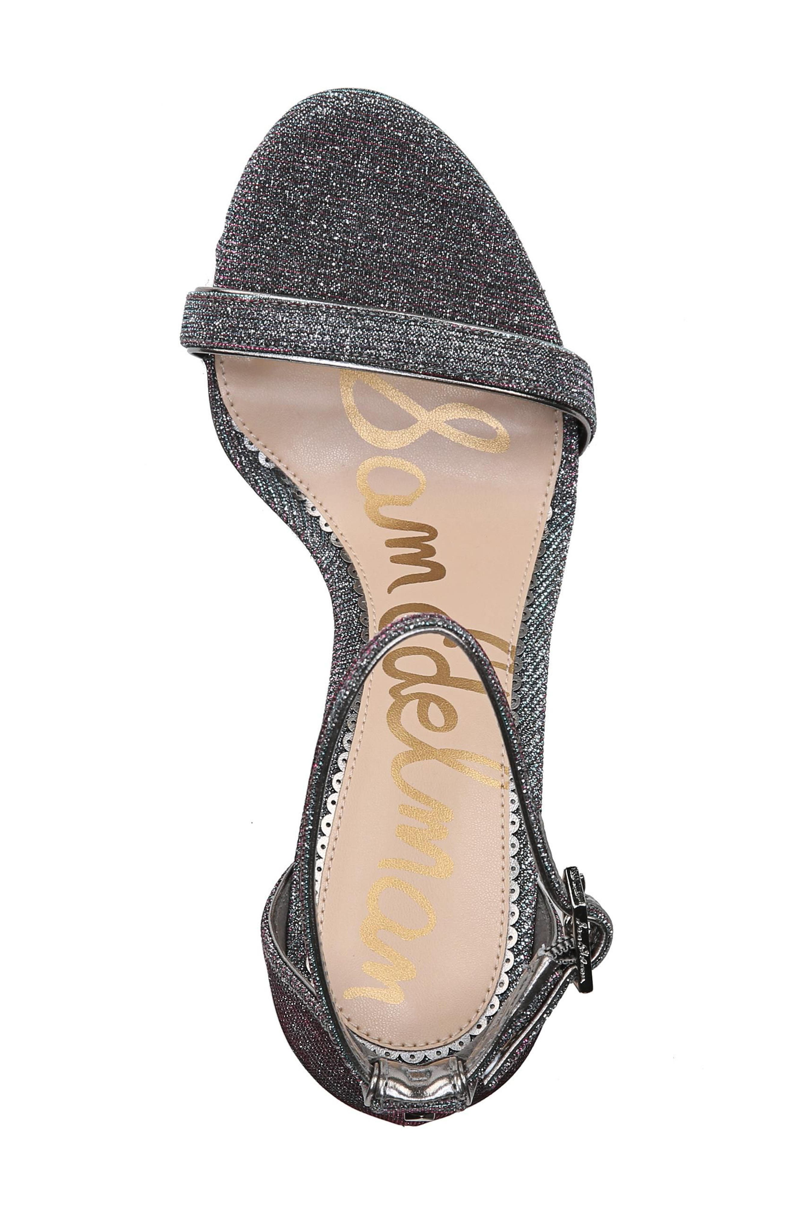 Ariella Ankle Strap Sandal,                             Alternate thumbnail 5, color,                             Pink/ Blue Multi Fabric